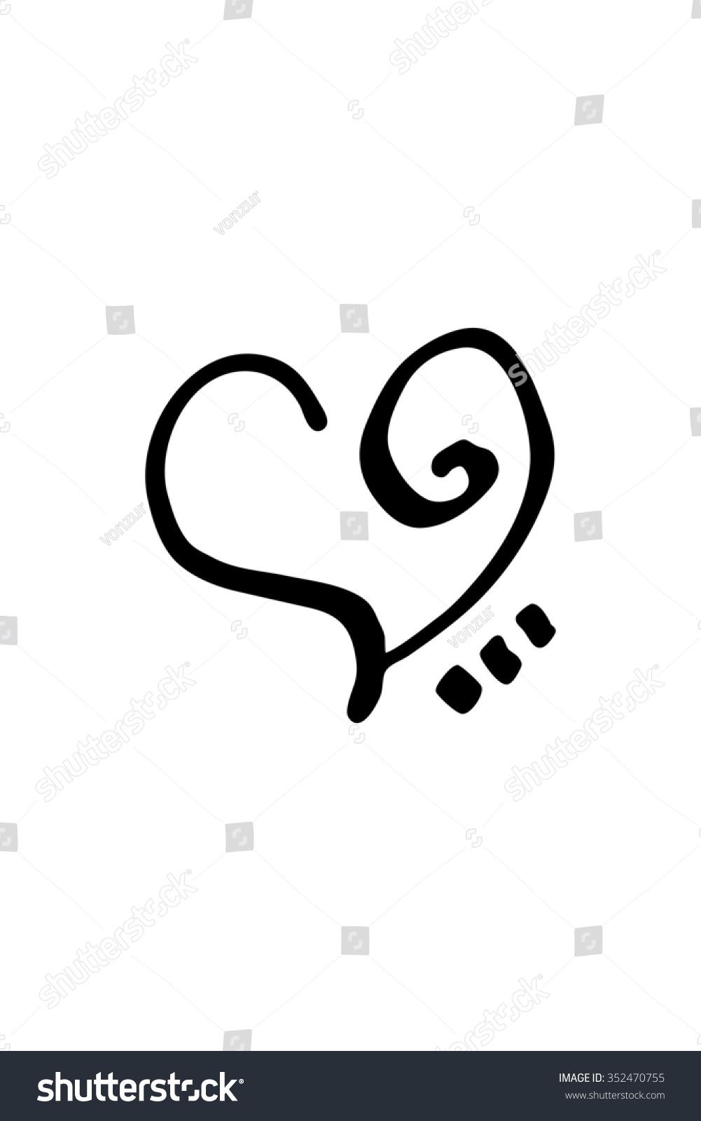 Zibu Angelic Symbols Used Connect Love Stock Photo Photo Vector