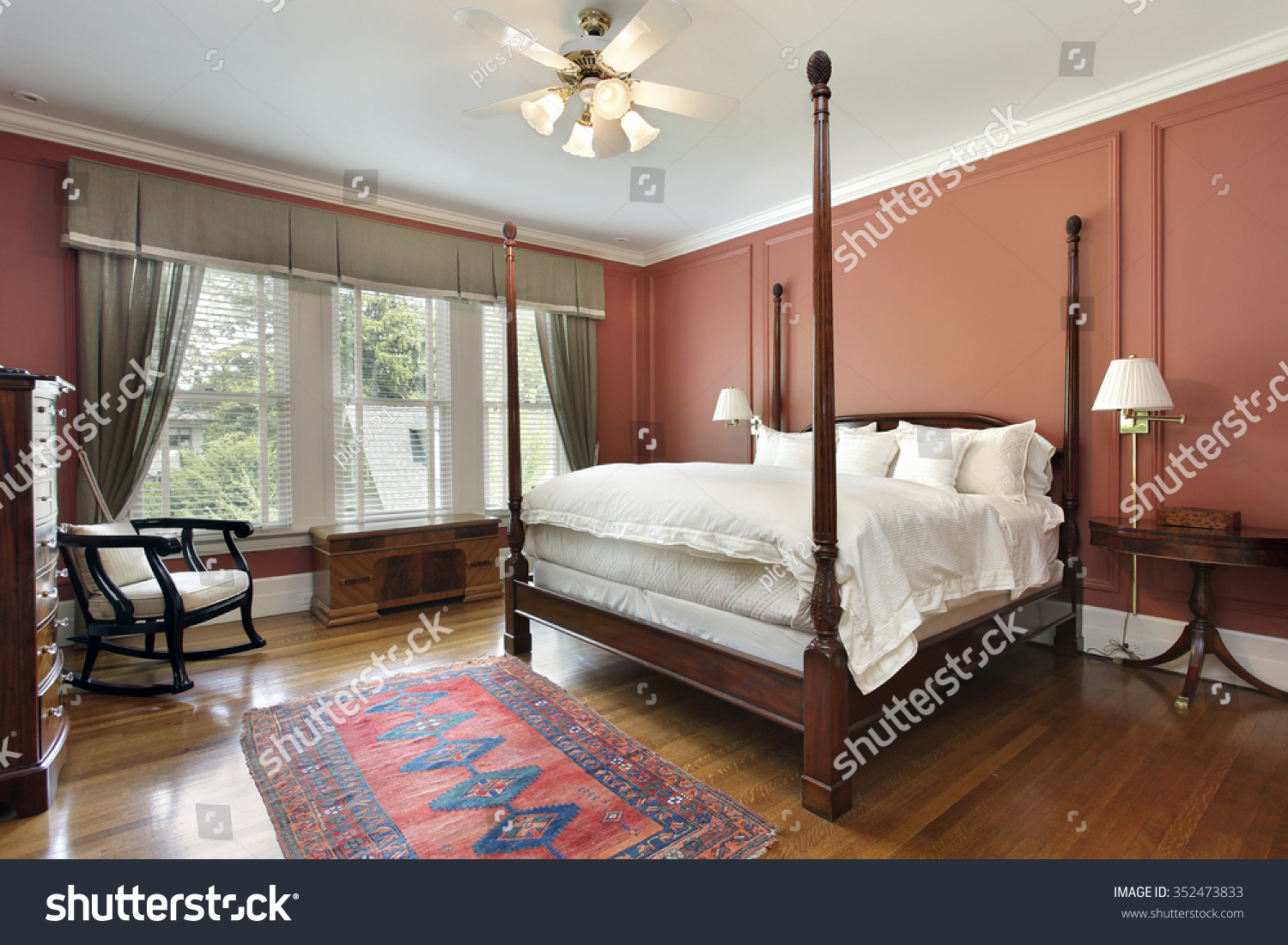 salmon color bedroom master bedroom luxury home salmon colored stock photo 13114