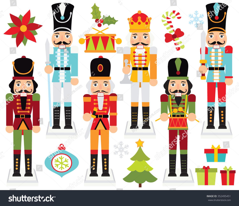 Christmas Nutcrackers Stock Vector 352495451 - Shutterstock
