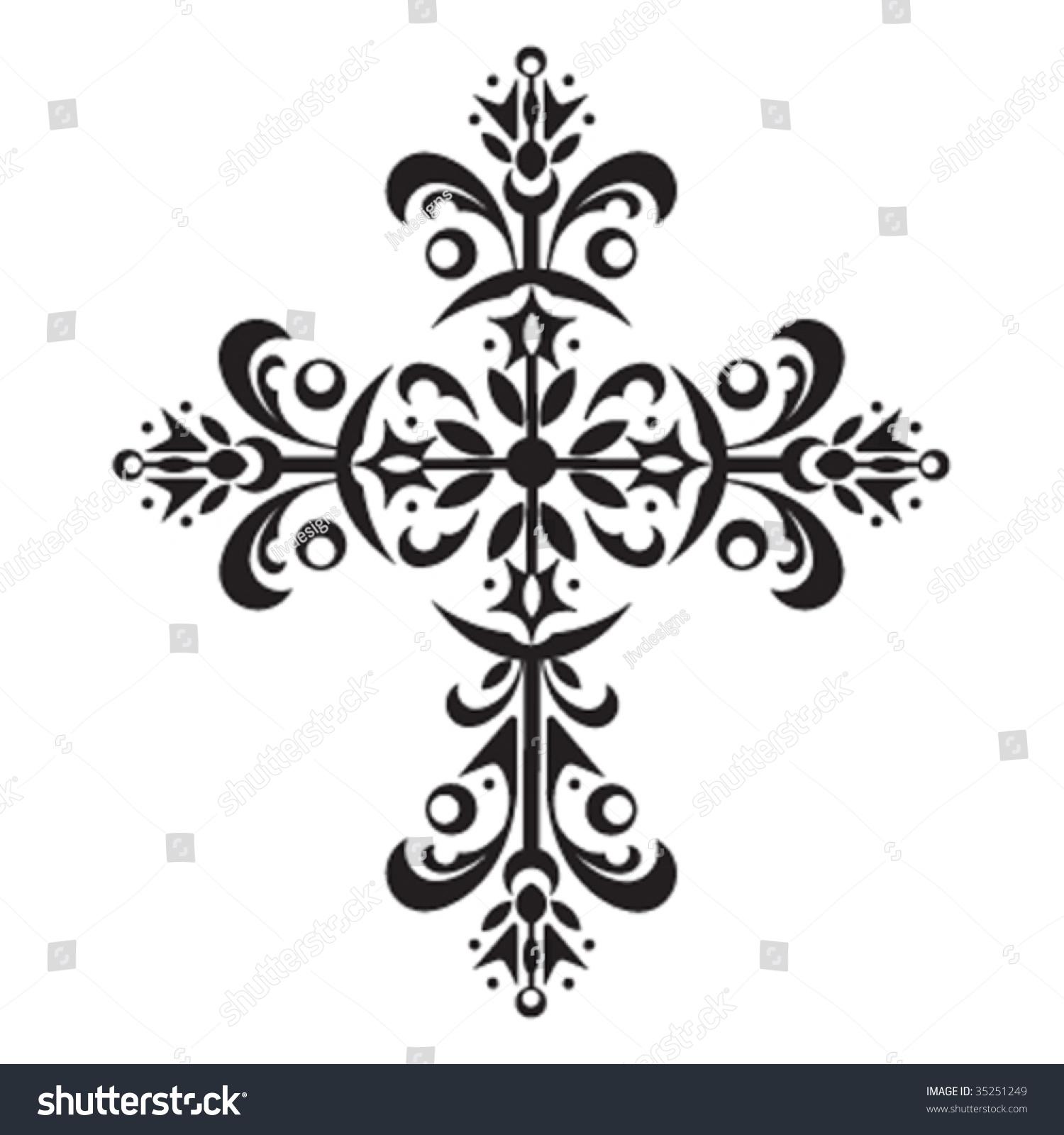Decorative Cross Stock Vector 35251249 : Shutterstock