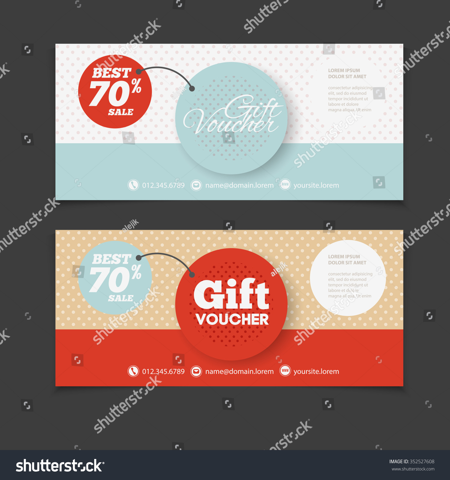 abstract gift voucher or coupon design template blank print vector flyer