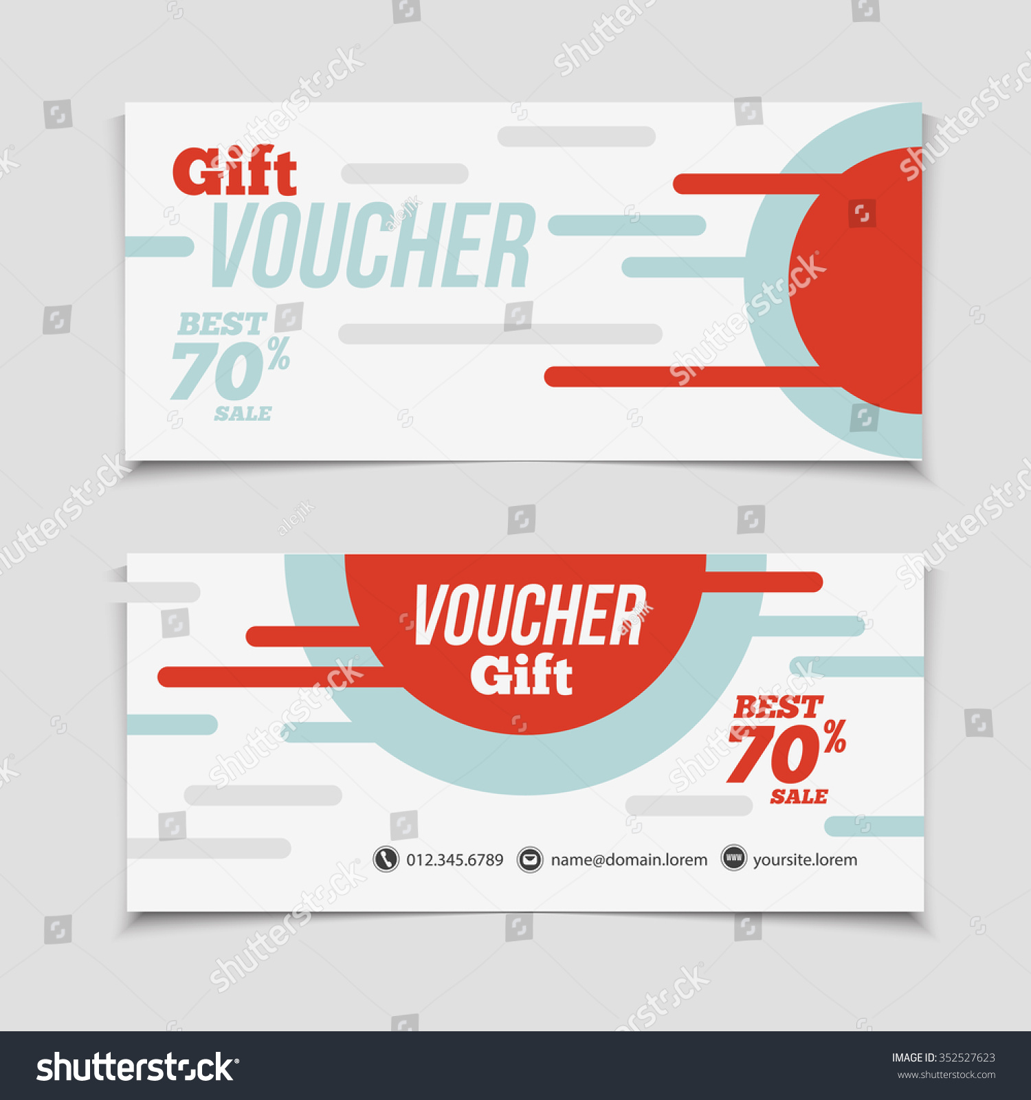 Abstract Gift Voucher Coupon Design Template Stock Vector 352527623 ...
