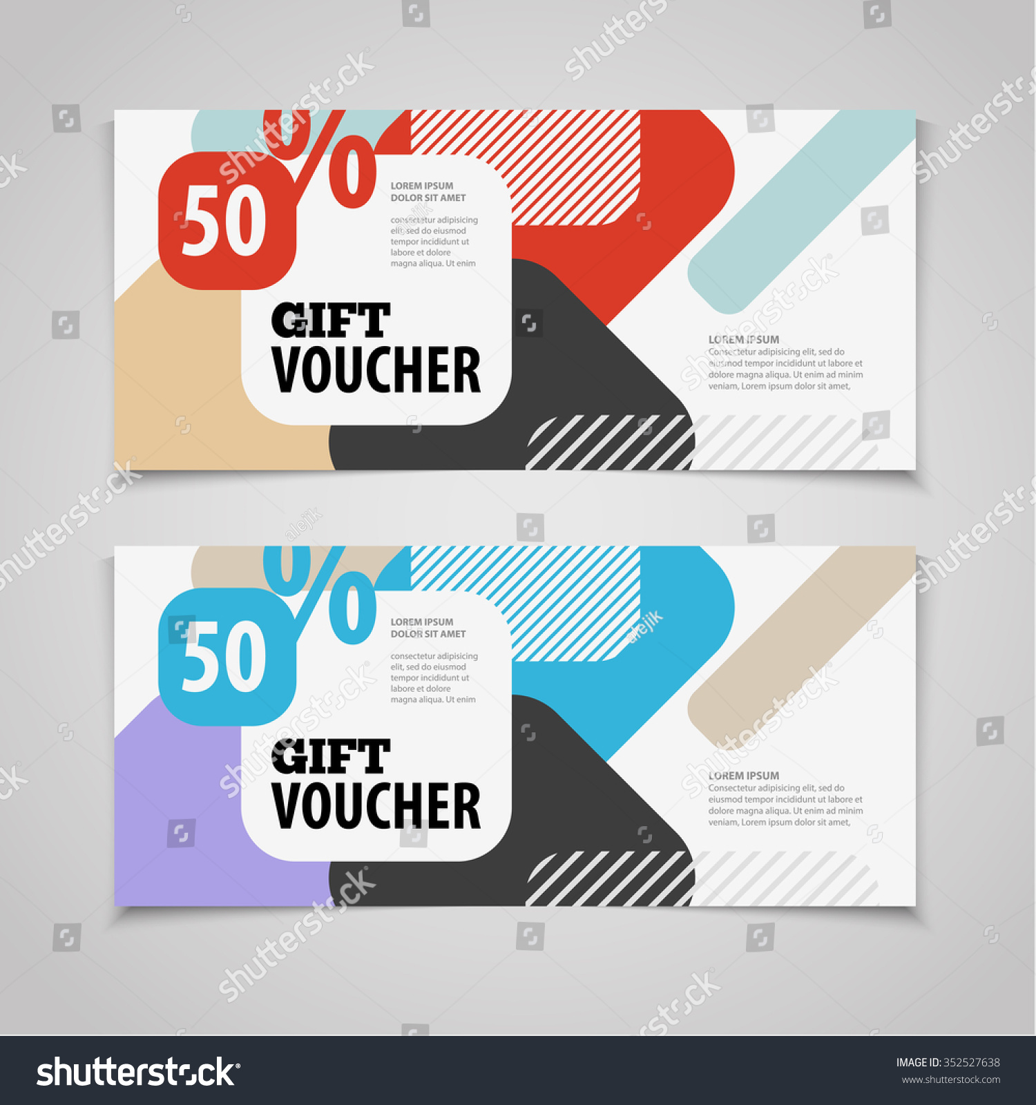 abstract gift voucher coupon design template stock vector abstract gift voucher or coupon design template blank print vector flyer