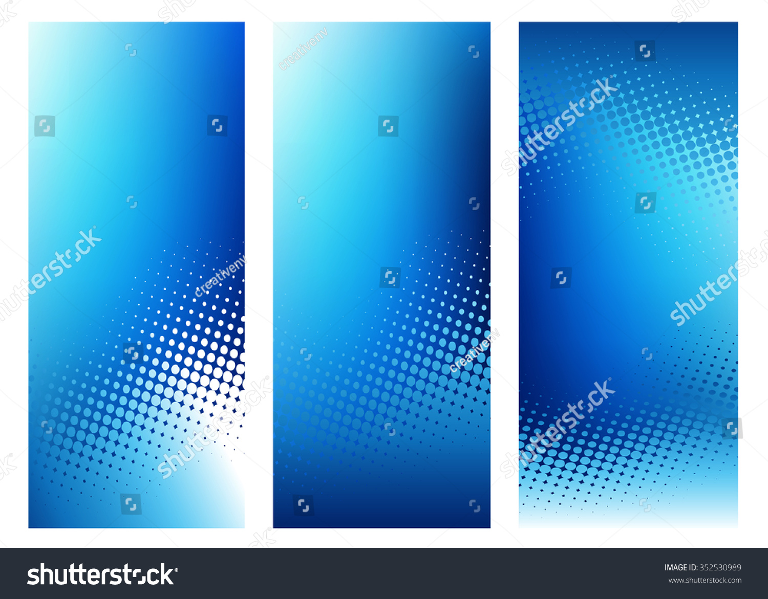 Three Vertical High Resolution Abstract Dark Blue Graphic Design Background Templates For Various Communication Arts And