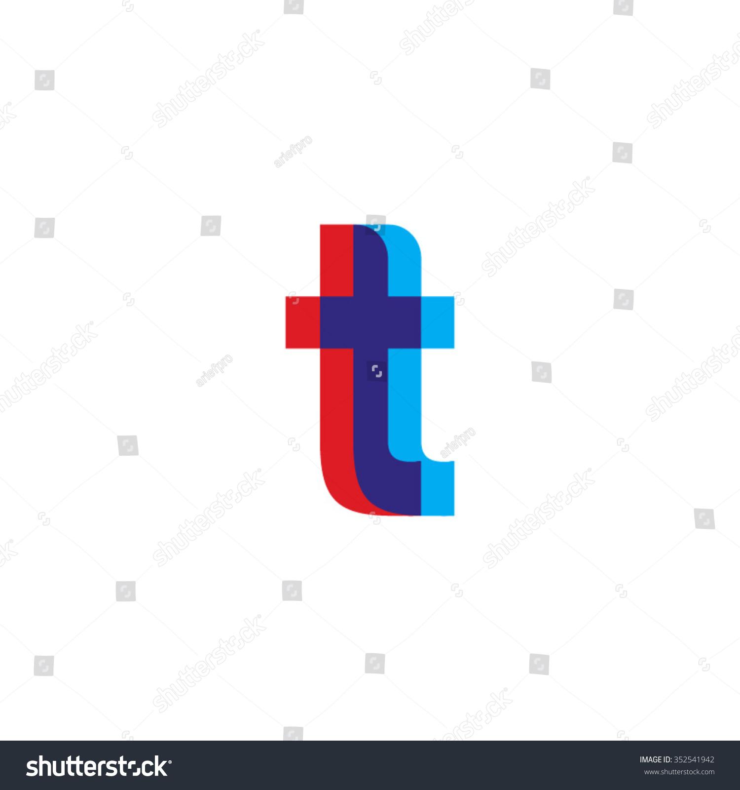 Tj initial luxury ornament monogram logo stock vector - Lowercase Tt Logo Red Blue Overlap Transparent Logo
