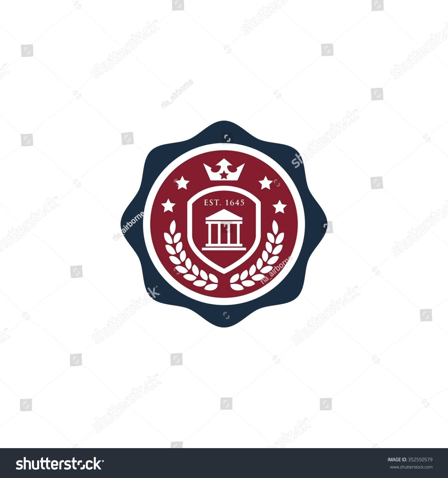 Education Logo Template Badge And Shield