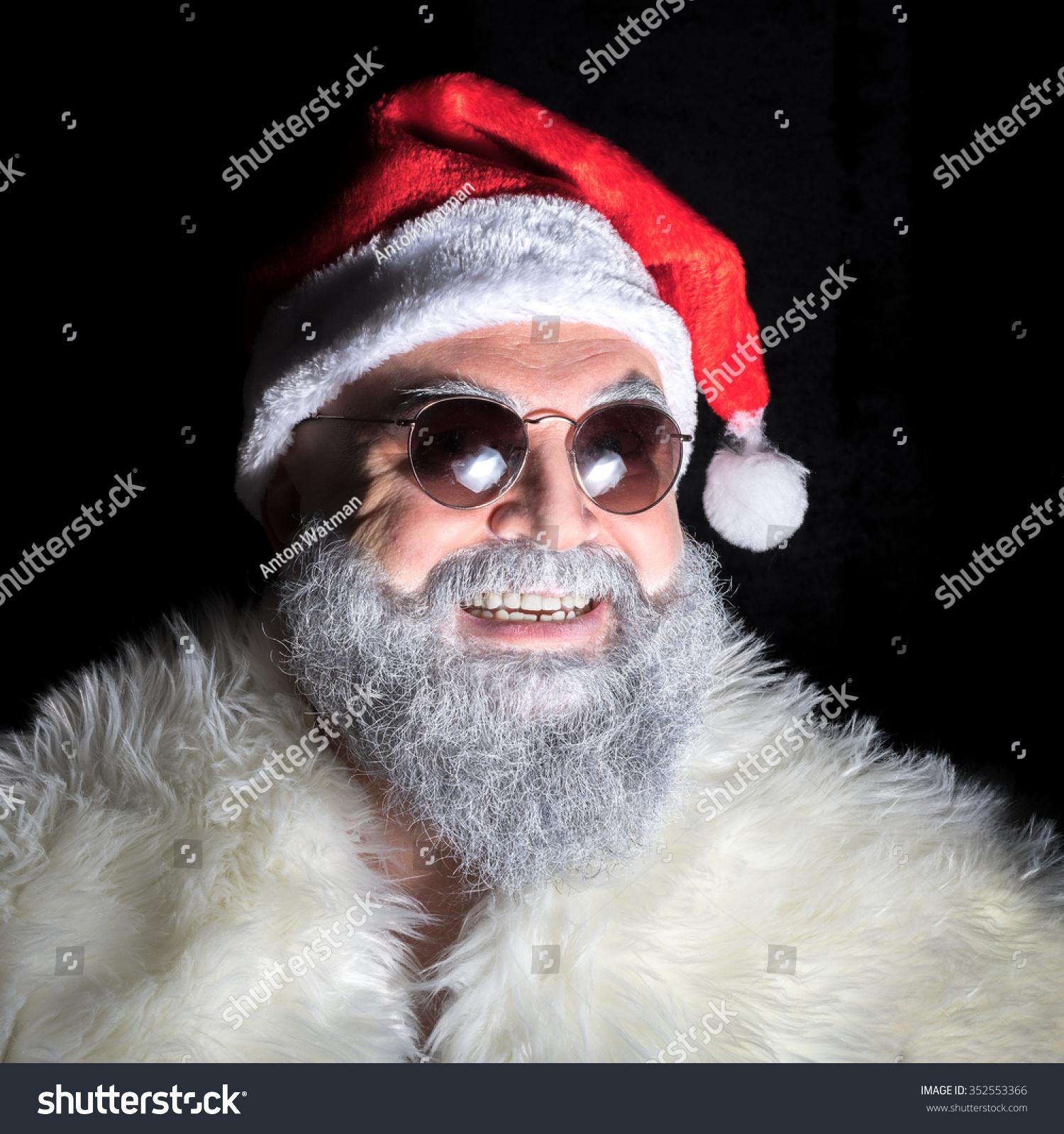 scary evil santa claus sunglasses stock photo 352553366 shutterstock