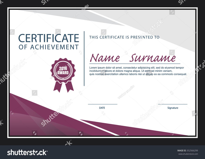 certificate template size