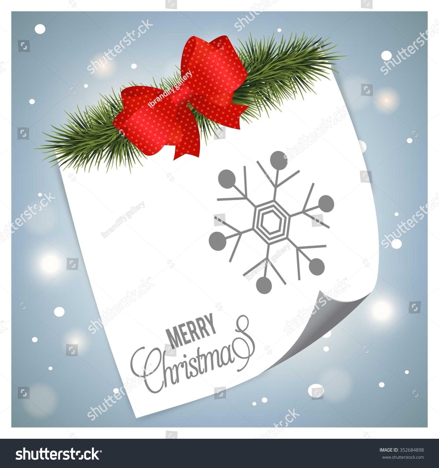 Merry Christmas Greetings Card Design Snow Stock Vector (Royalty ...