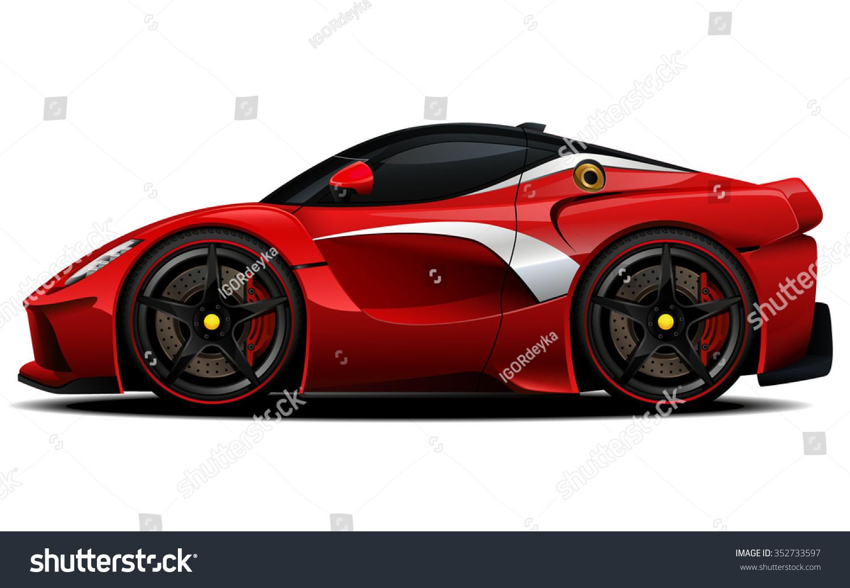 vector modern cartoon car sports car stock vector 352733597