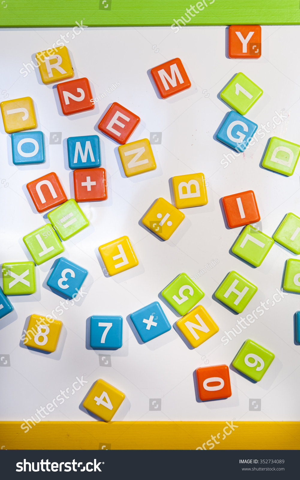 Letters and numbers white magnetic board filled with for White magnetic letters and numbers