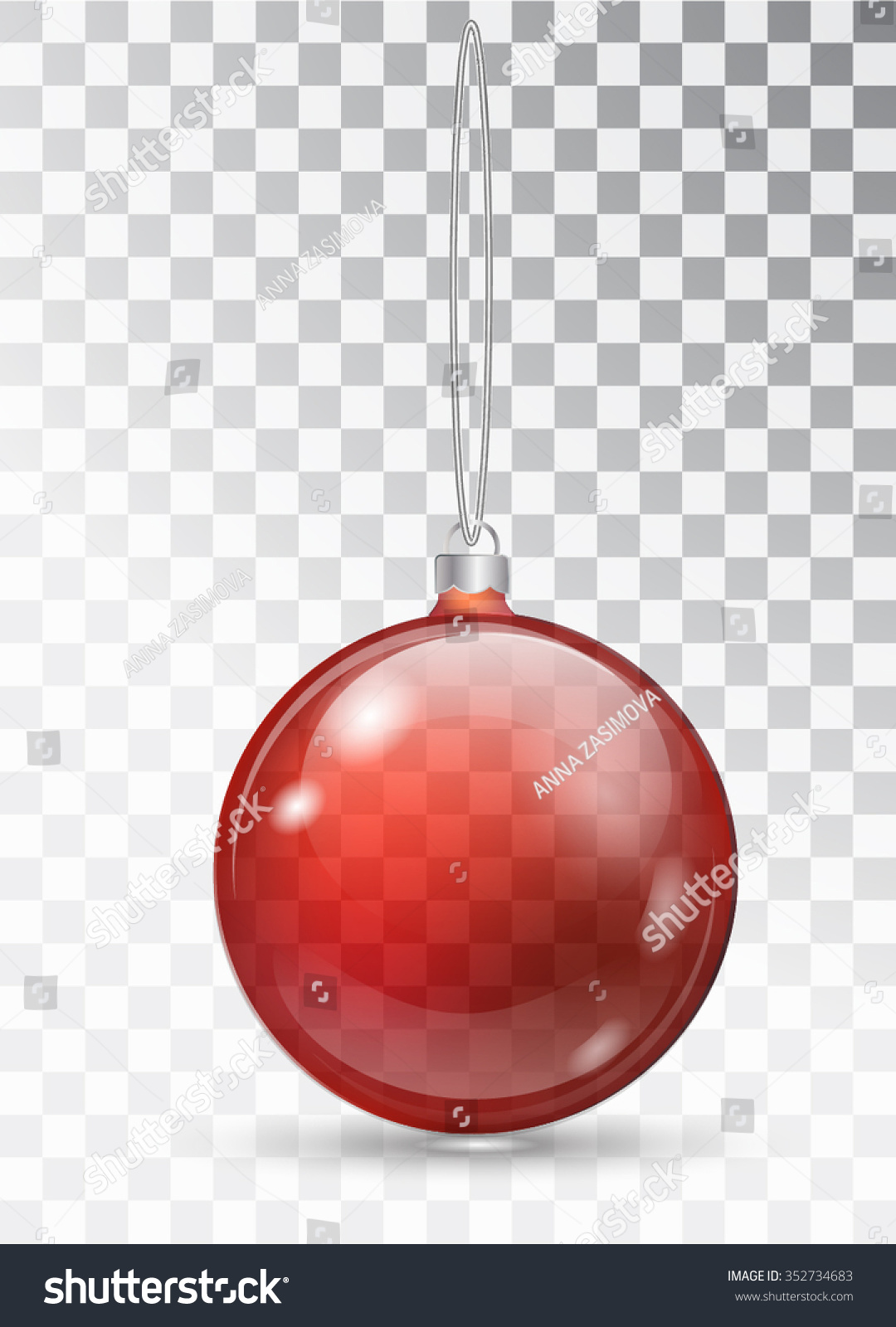 transparent christmas ball glass christmas tree toy red transparent ball isolated elements of - Christmas Transparent
