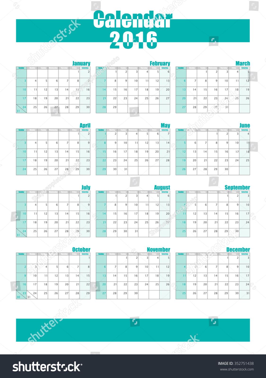 Calendar Template Vector : Calendar template vector shutterstock