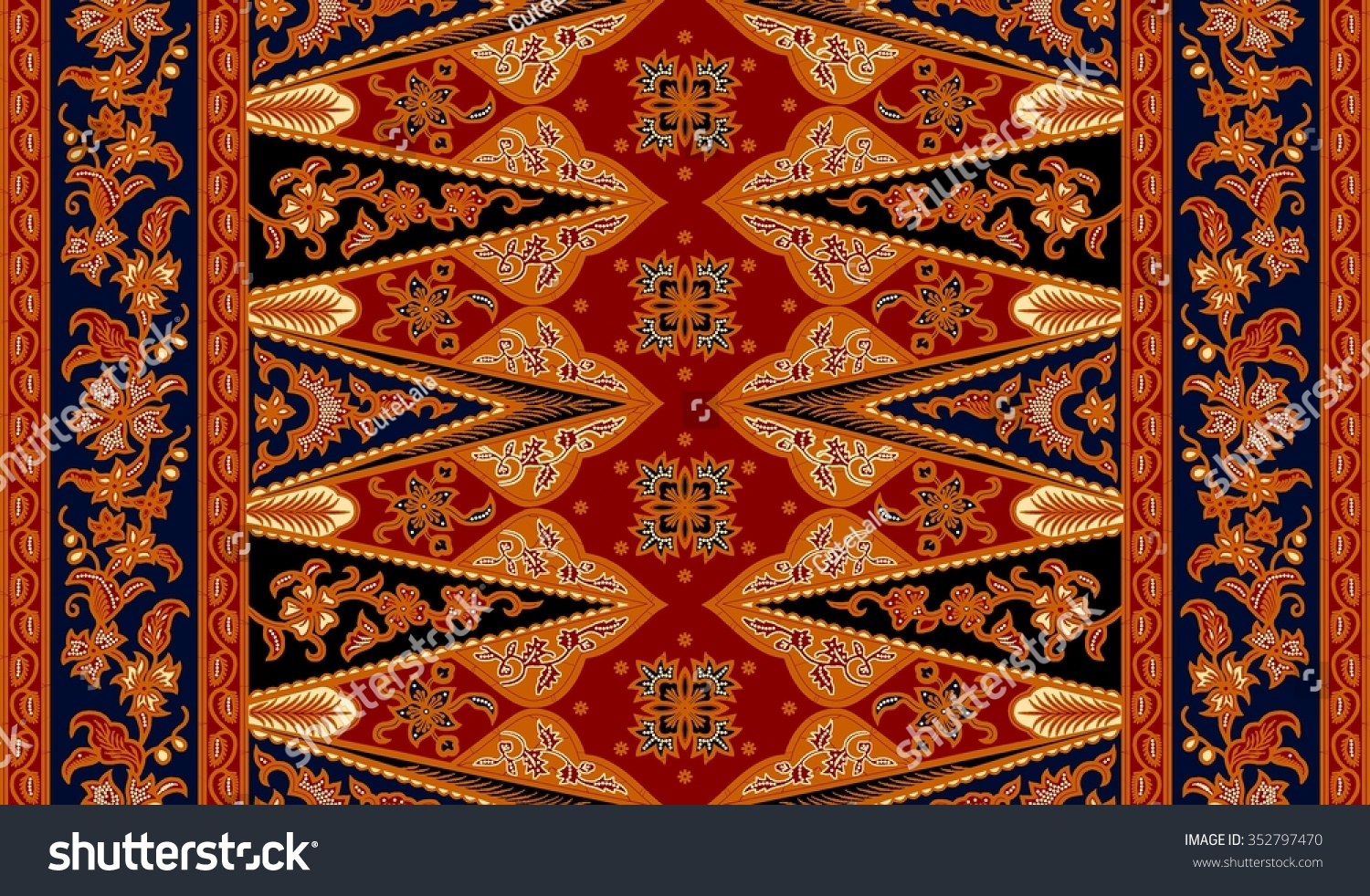 Seamless floral beautiful batik background Able to repeat for textile printing