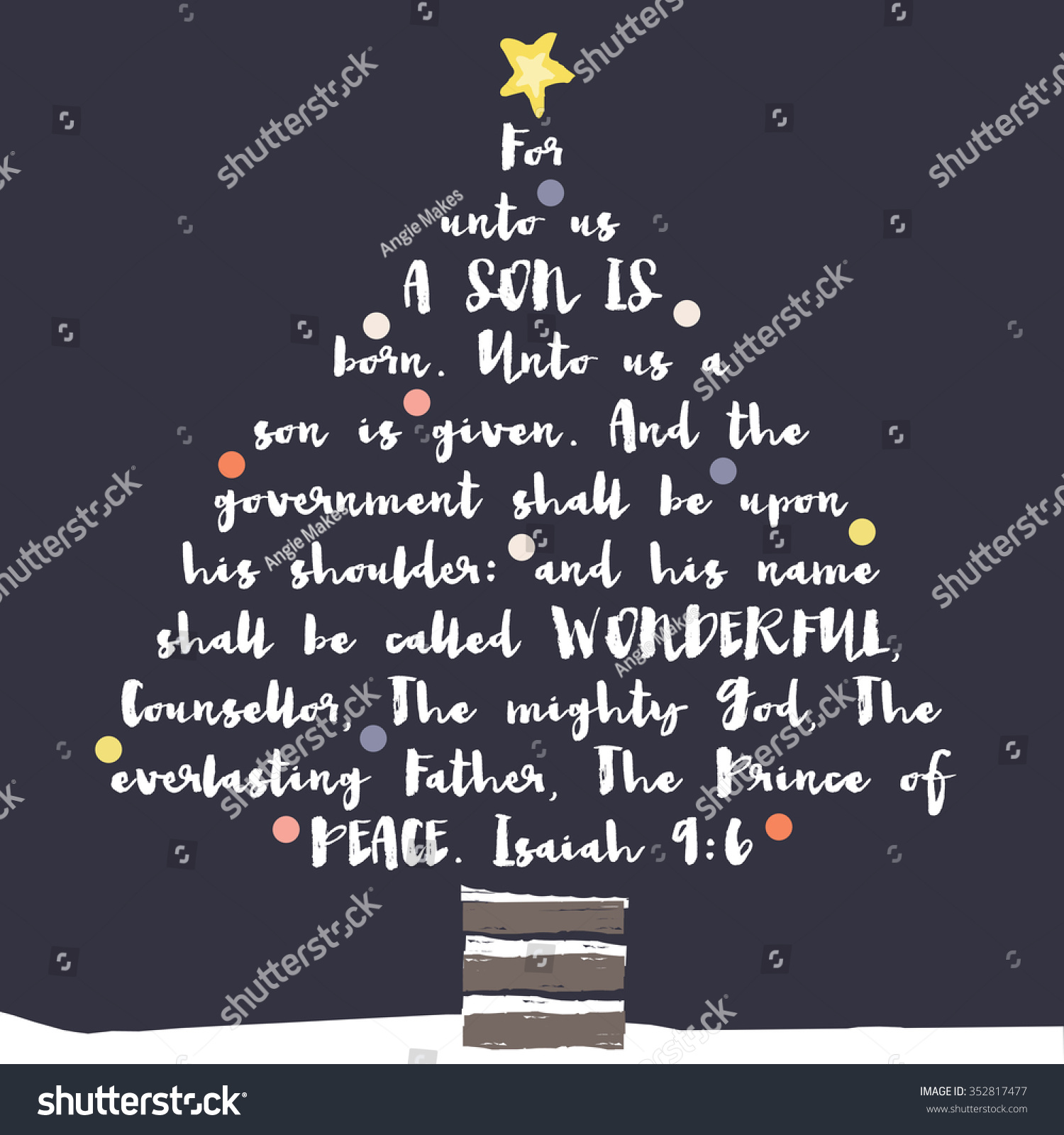 Christmas tree typography bible verse christian stock illustration christmas tree typography bible verse christian bible verse christmas card m4hsunfo