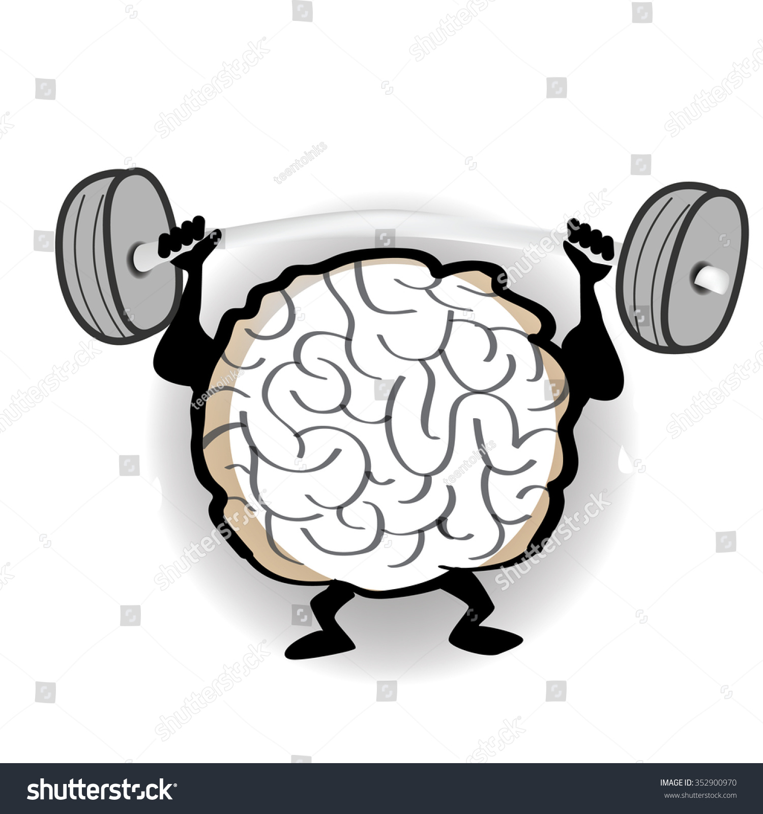 VECTOR Brain Working Out Stock Vector (2018) 352900970 - Shutterstock