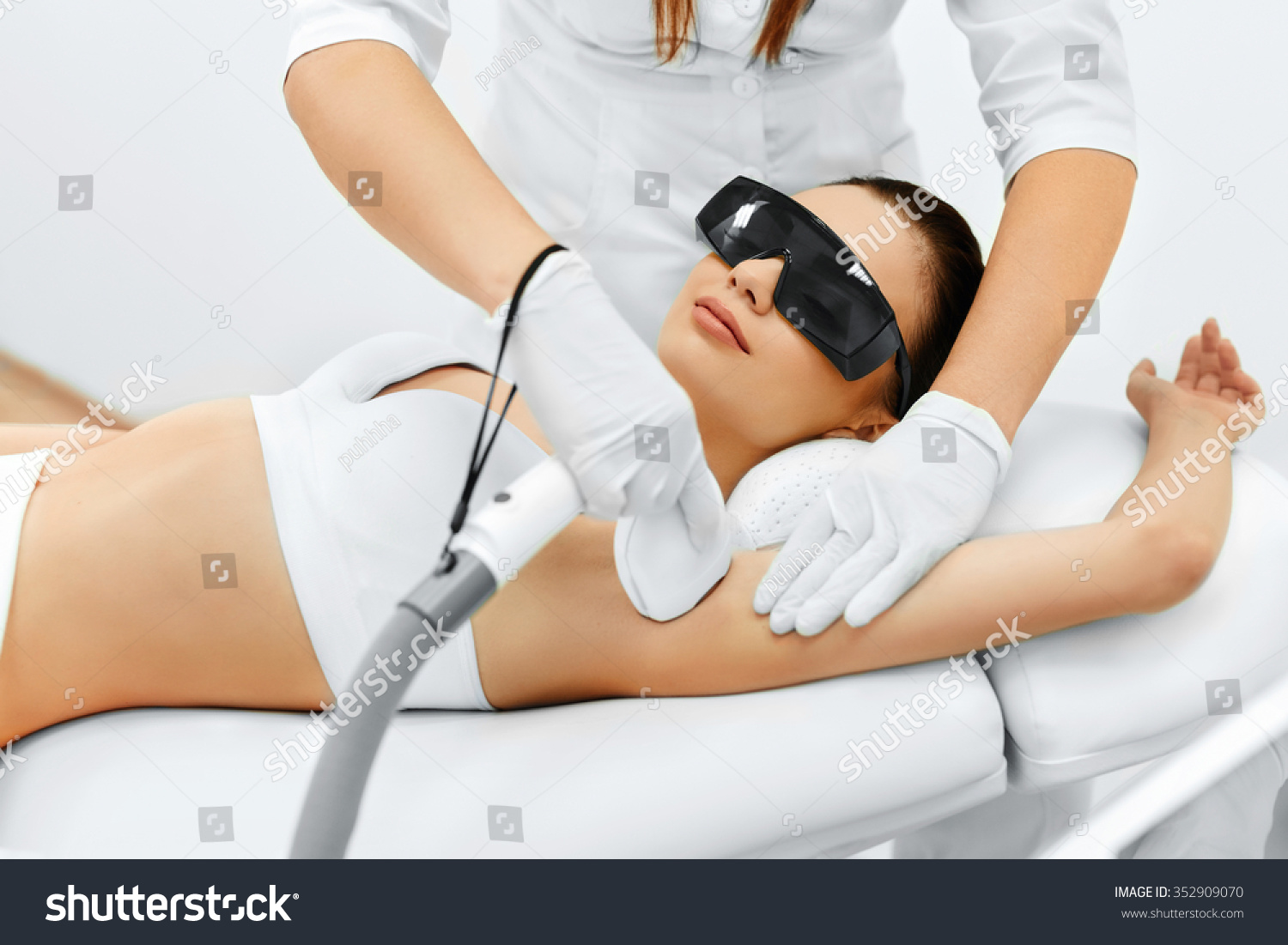 Body Care Underarm Laser Hair Removal Stock Photo ...