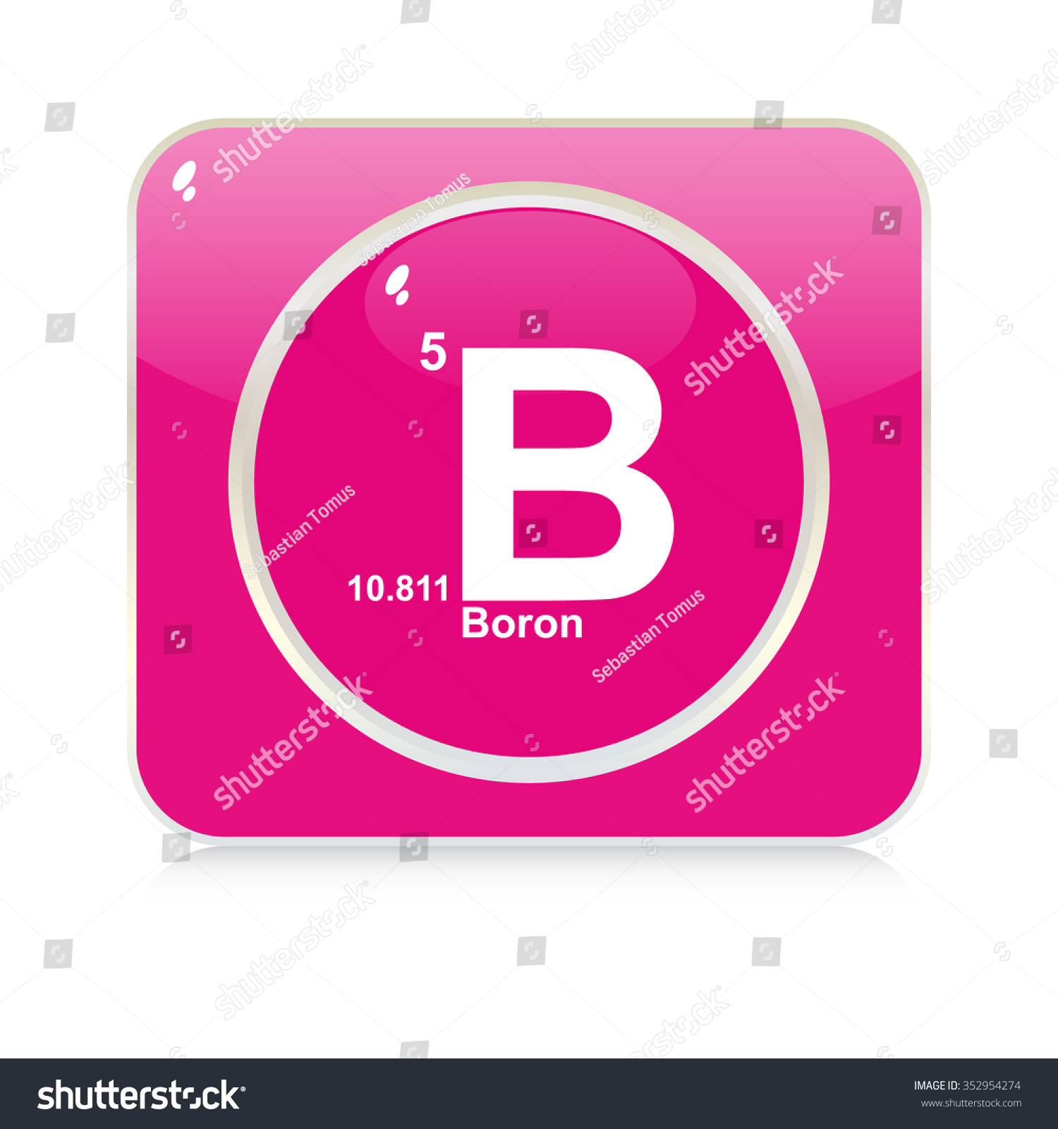The symbol of boron images symbol and sign ideas boron chemical element button stock vector 352954274 shutterstock boron chemical element button buycottarizona buycottarizona
