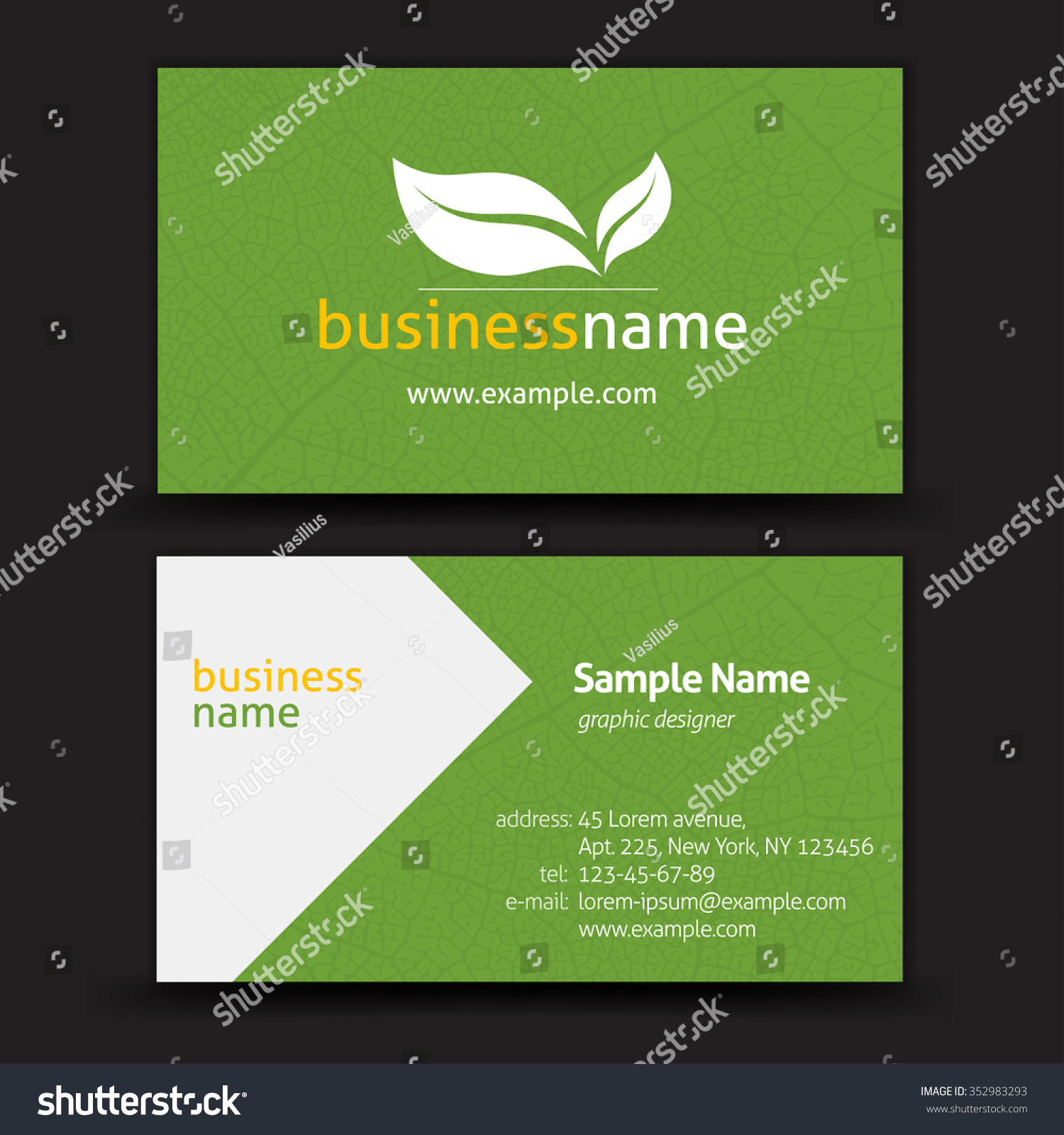 vector abstract creative business cards stock vector