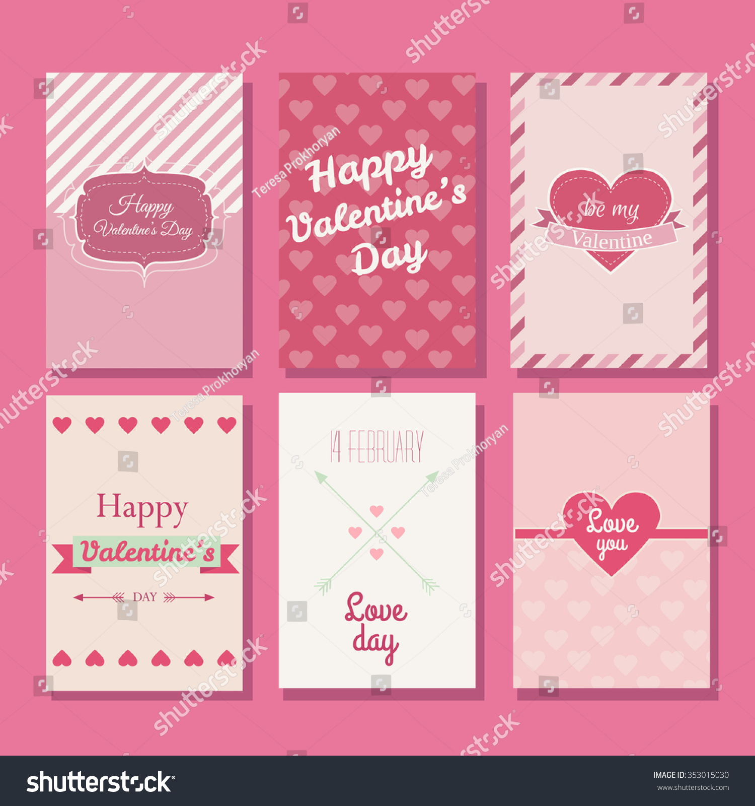 Collection Beautiful Valentines Greeting Cards Made Vector – Beautiful Valentine Cards