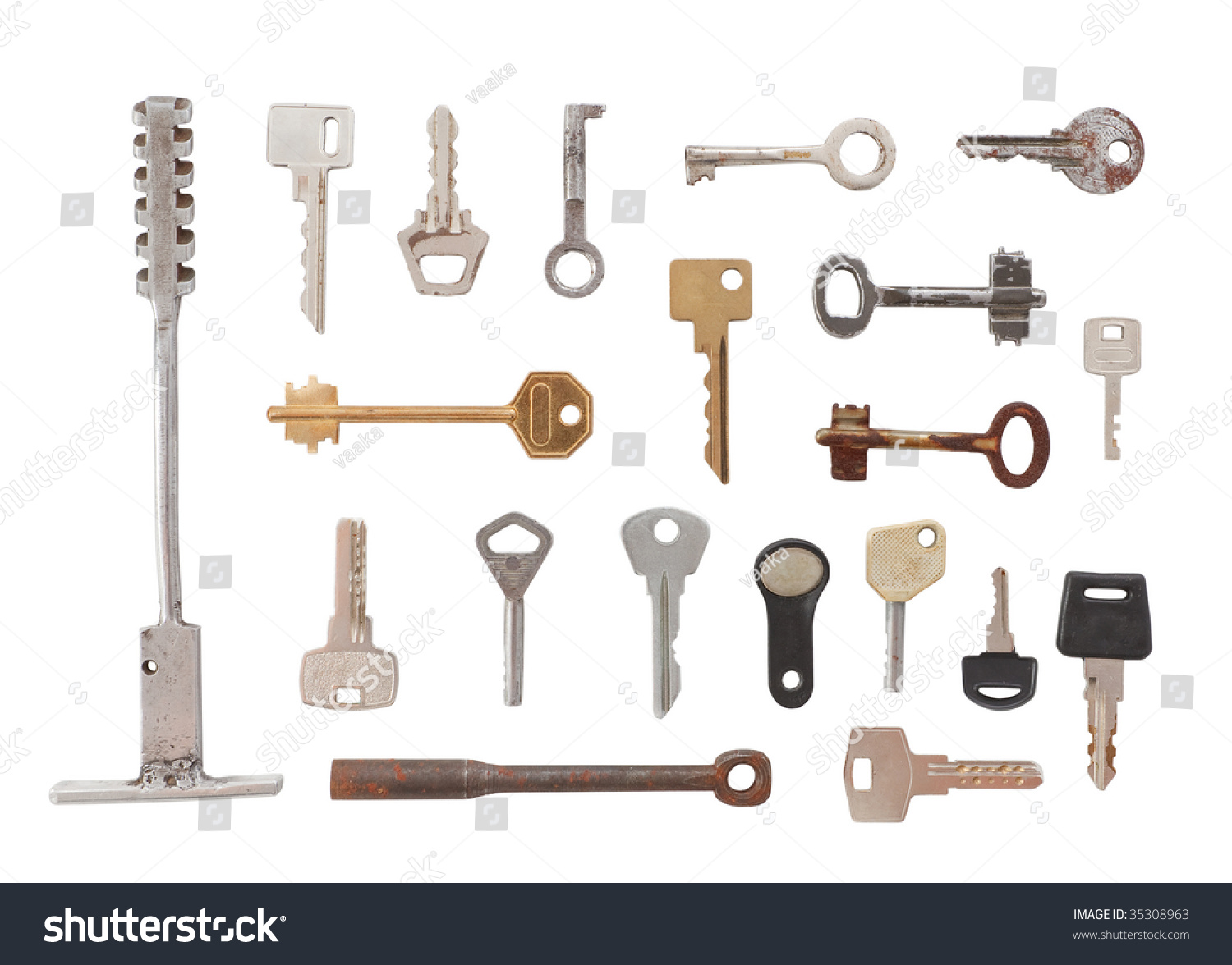 Twenty Different Types Of Keys Big And Small, Old And New ...