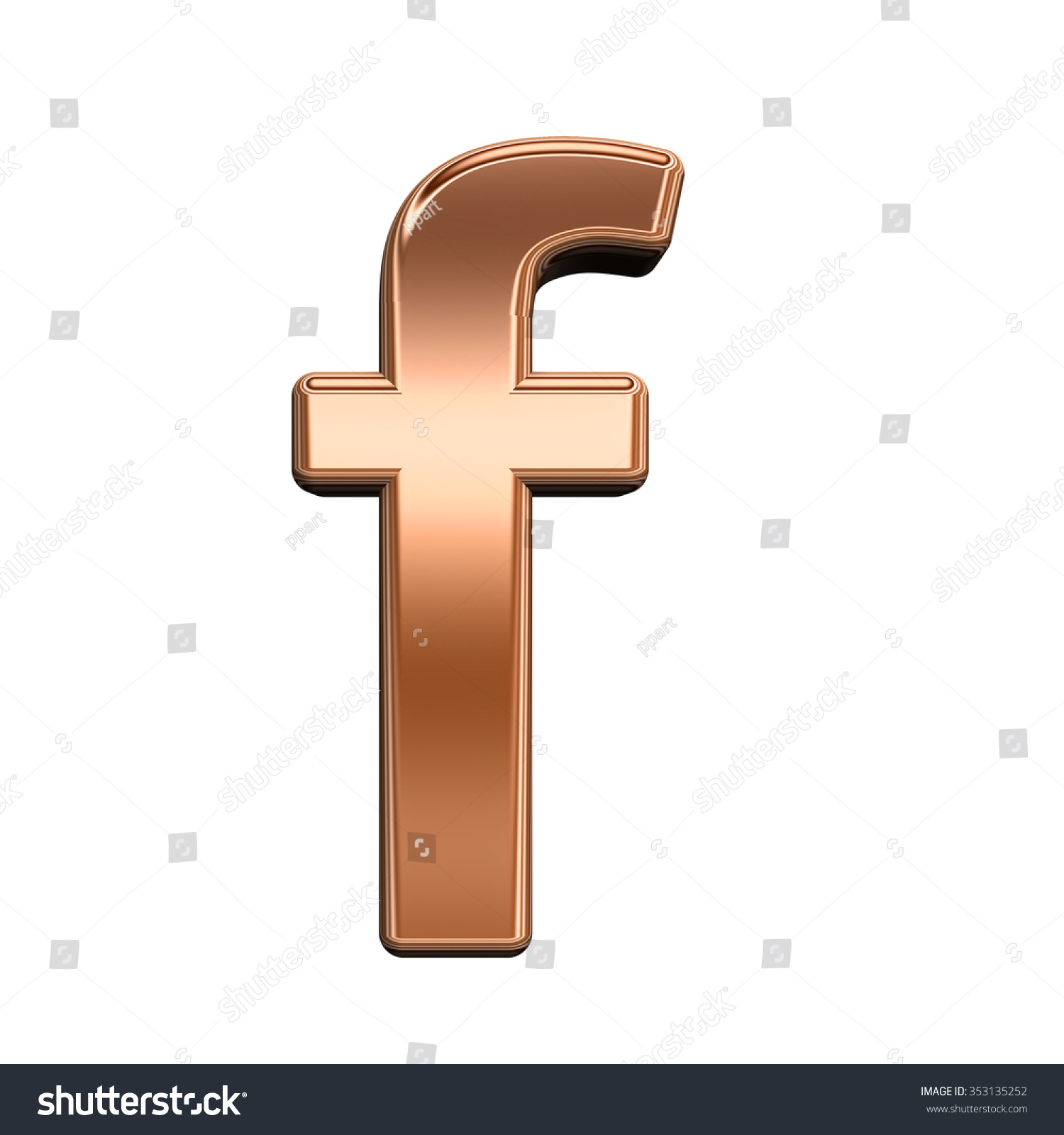 One lower case letter shiny copper stock illustration 353135252 one lower case letter from shiny copper alphabet set isolated on white computer generated buycottarizona Image collections