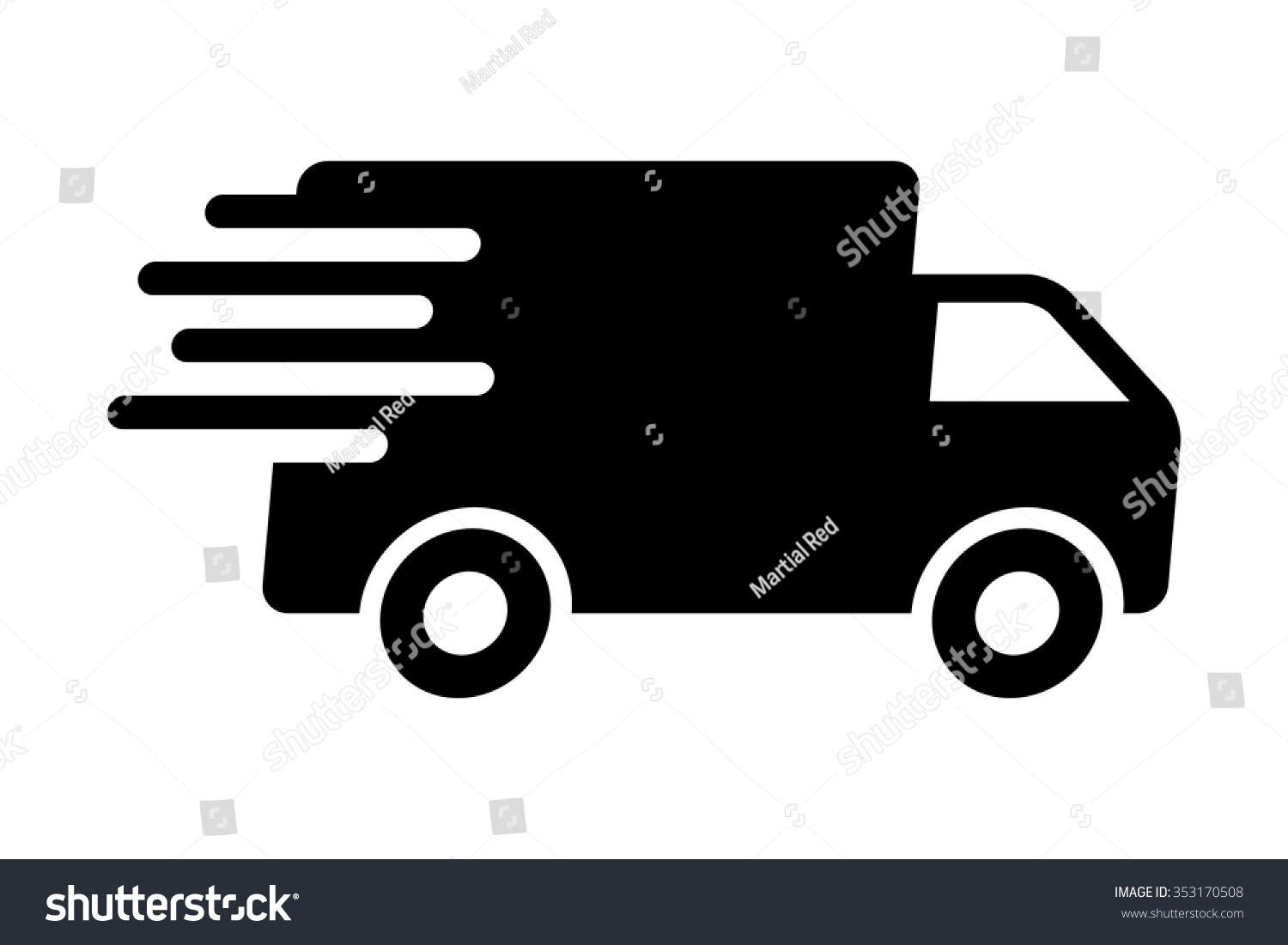 Fast shipping delivery truck flat icon stock vector for Food truck design app