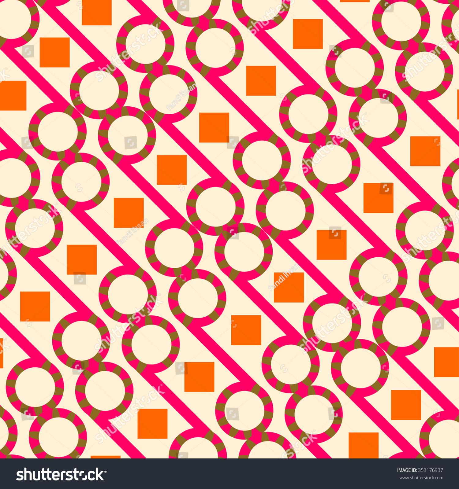 Colorful Batik Pattern Javanese Indonesia Stock Vector