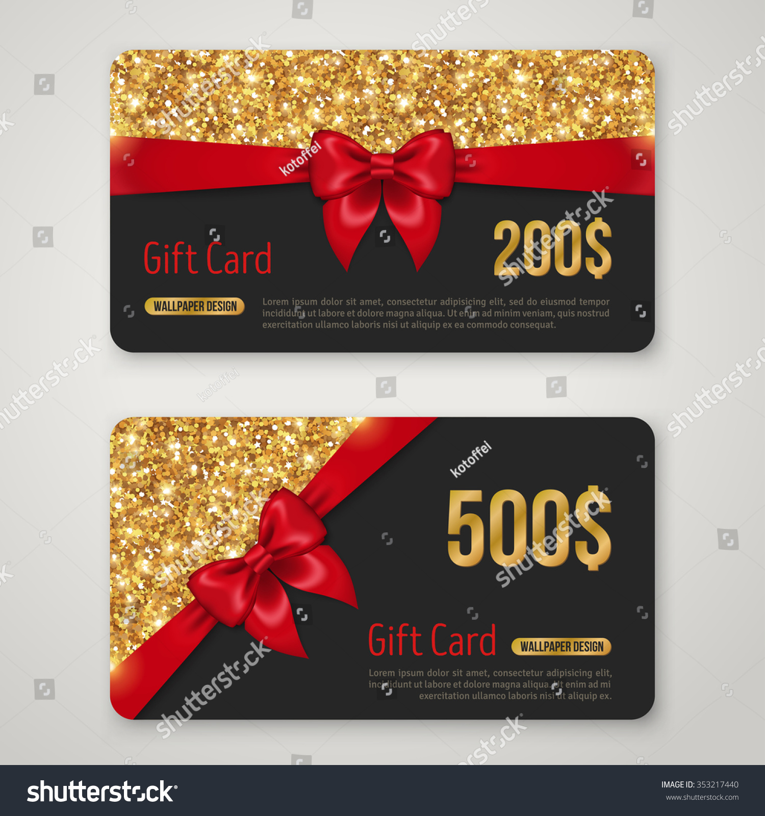 ... Template, Voucher Design, Holiday Invitation. Glowing New Year or