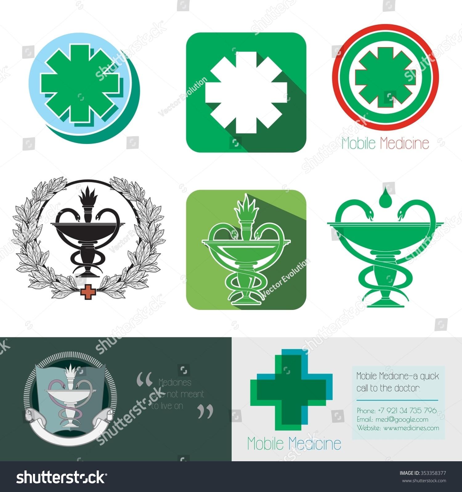 medical logo design medicine sign health stock vector
