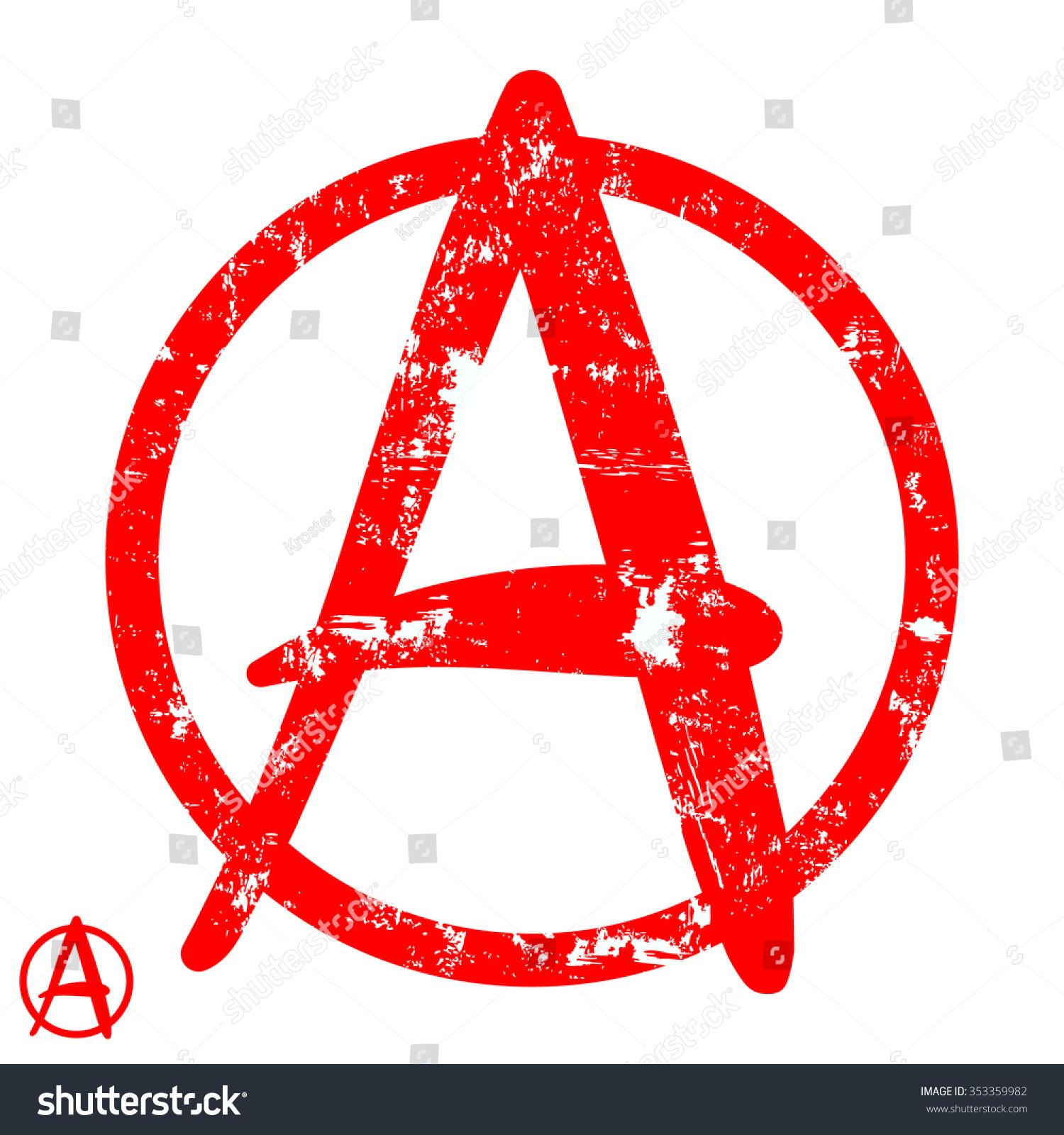 Anarchy symbolvector illustration stock vector 353359982 anarchy symbolctor illustration buycottarizona