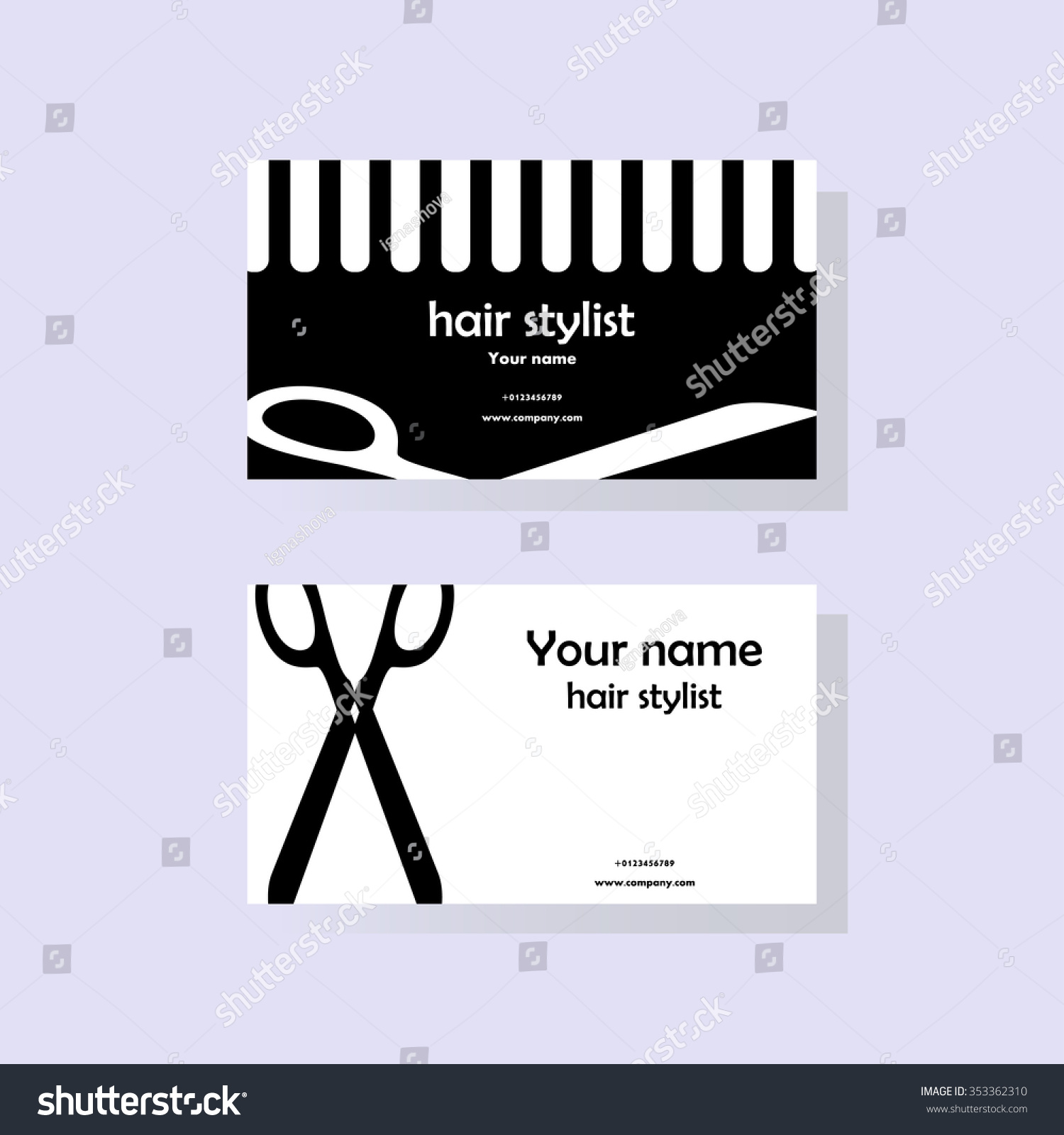 Hairdresser business cards vector image collections card design attractive business cards hairdresser model business card ideas hairdresser business cards vector choice image card design reheart Choice Image