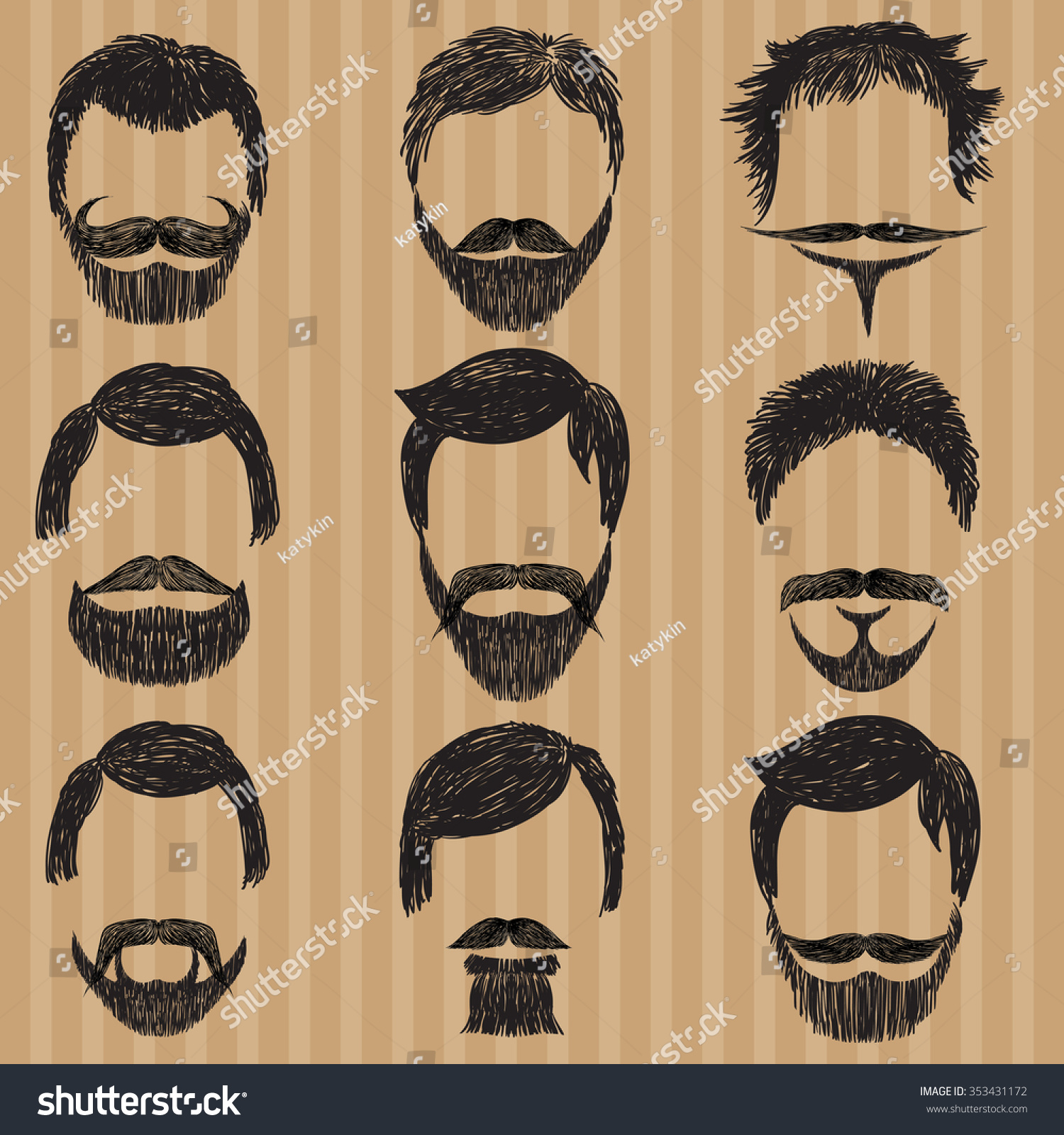 Men young styles mustache for 9 Facial