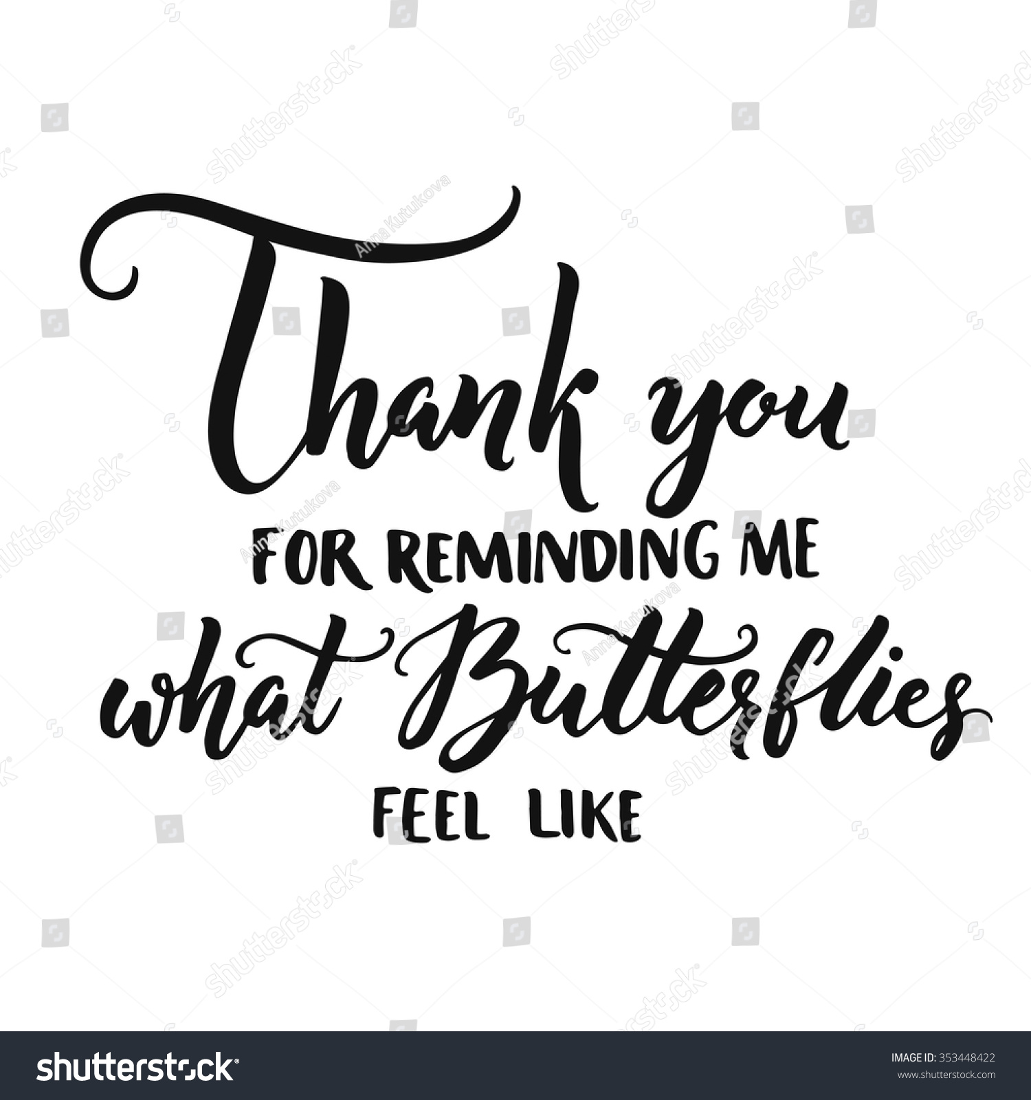 Thank You Reminding Me What Butterflies Stock Vector Royalty Free