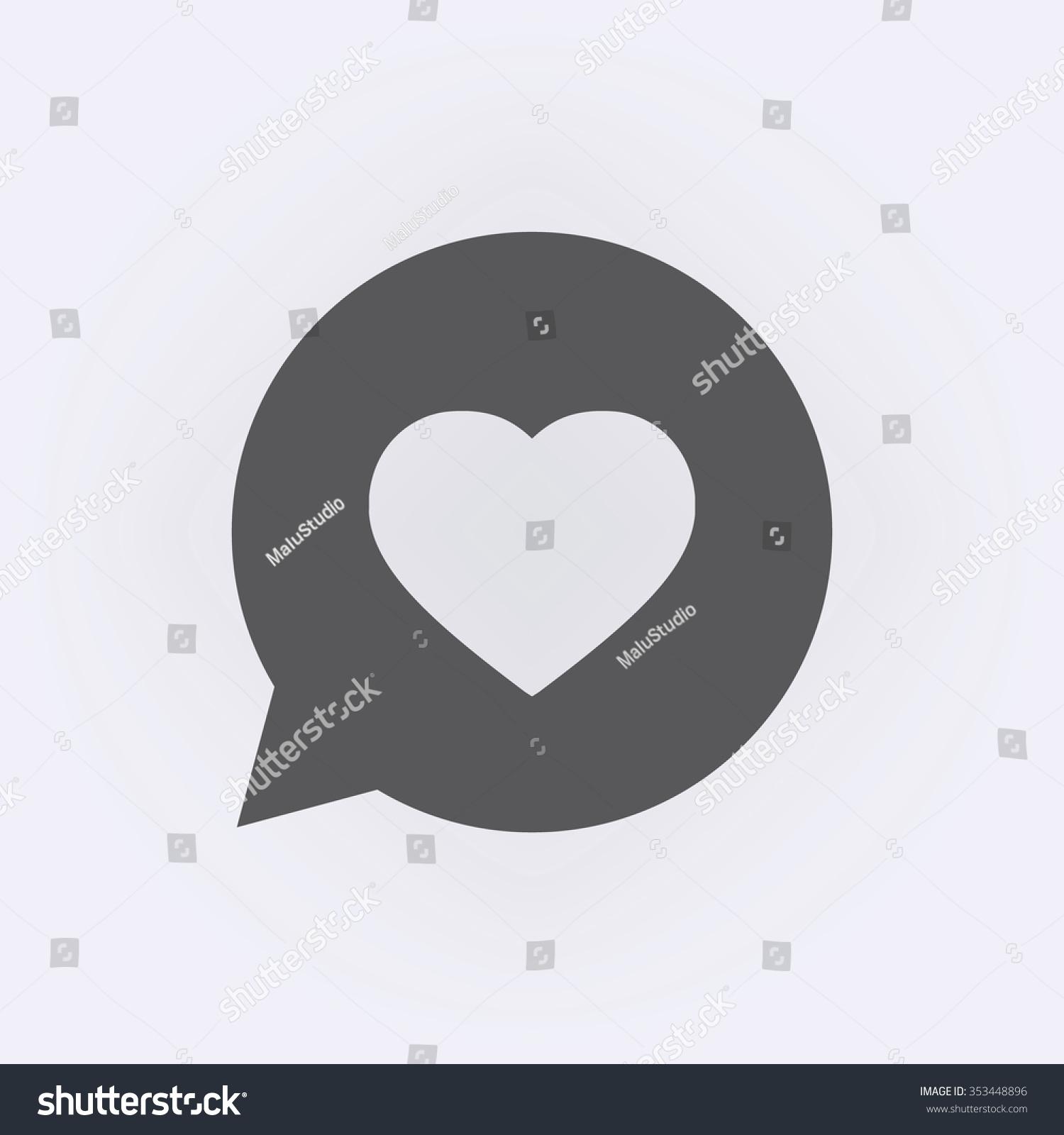 Message bubble symbol heart vector illustration stock vector message bubble symbol with heart vector illustration biocorpaavc