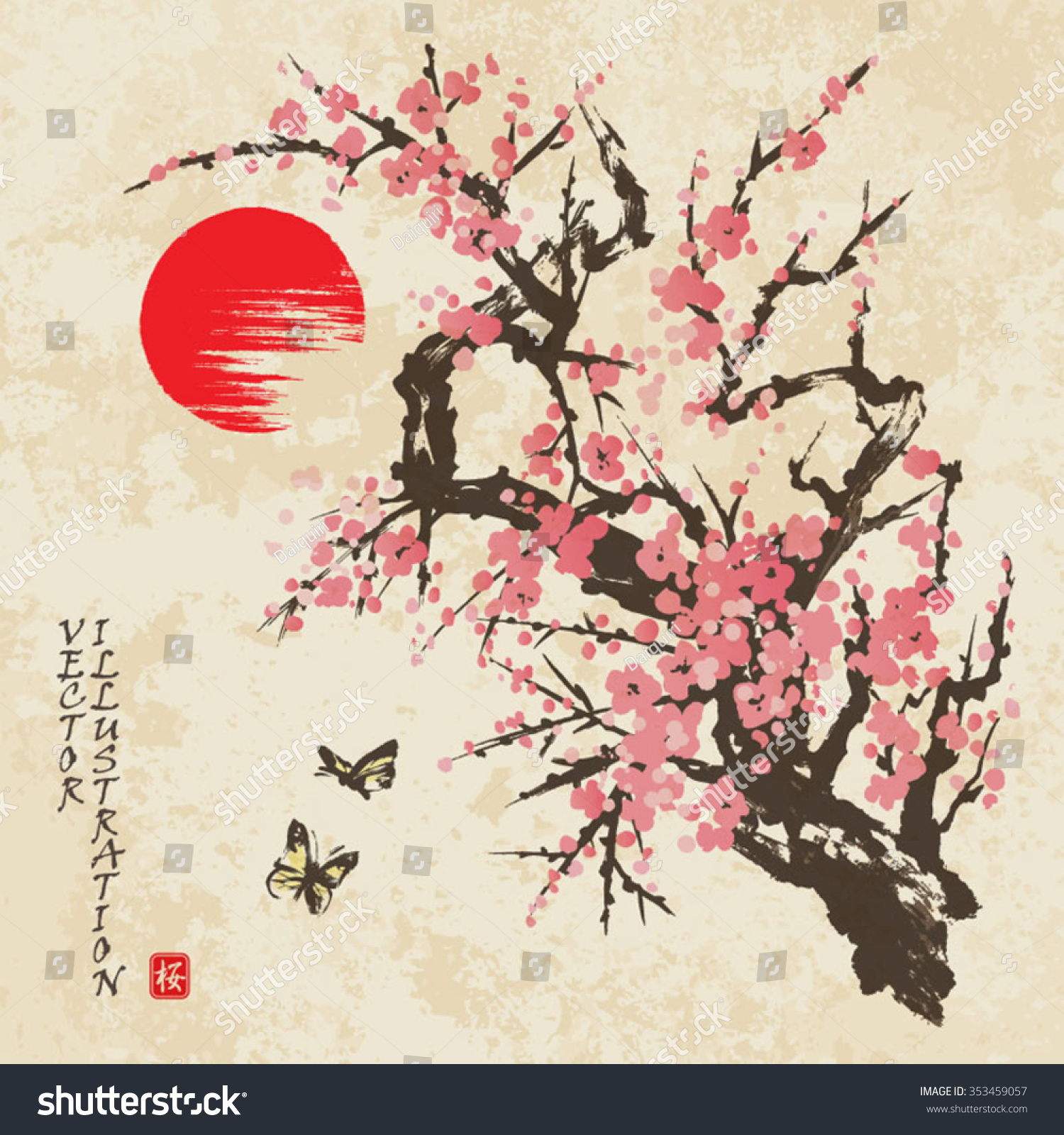 Loving asian style cherry blossom picuture one hell workout