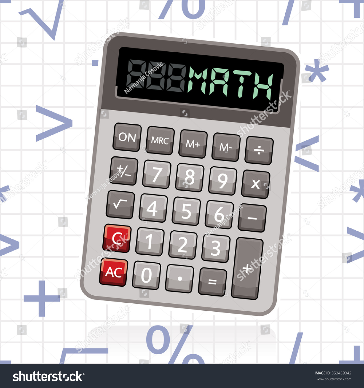 Calculator word math mathematical symbols background stock vector calculator with word math and mathematical symbols in background buycottarizona