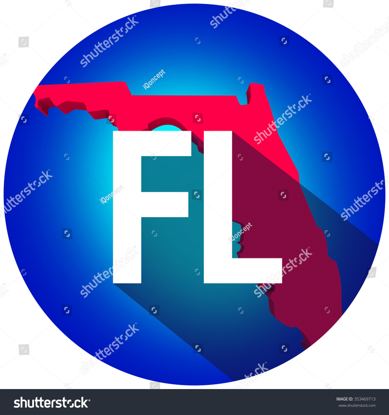 Florida Fl Letters On D Map Stock Illustration - Is florida part of the united states
