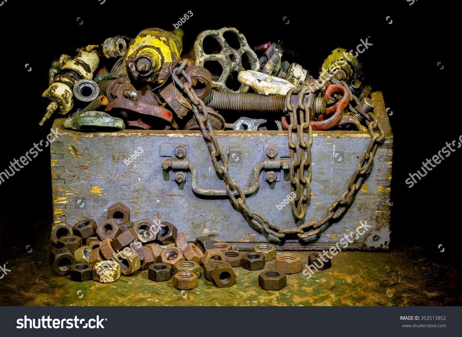 Old Rusty Technology Vintage Valves Tubes Stock Photo (Safe to Use ...