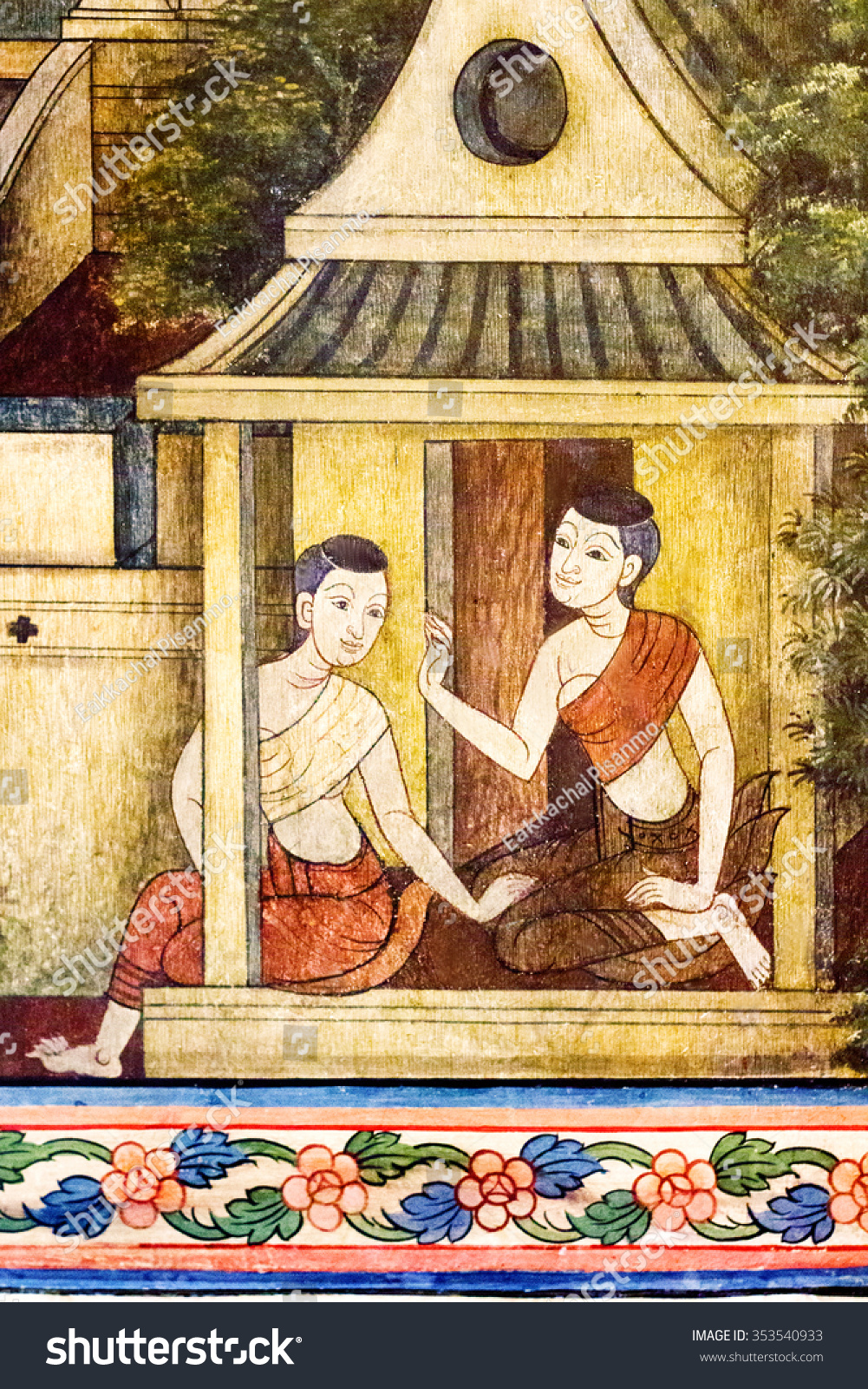 Art Thai Painting On Wall Temple Stock Photo (Edit Now)- Shutterstock