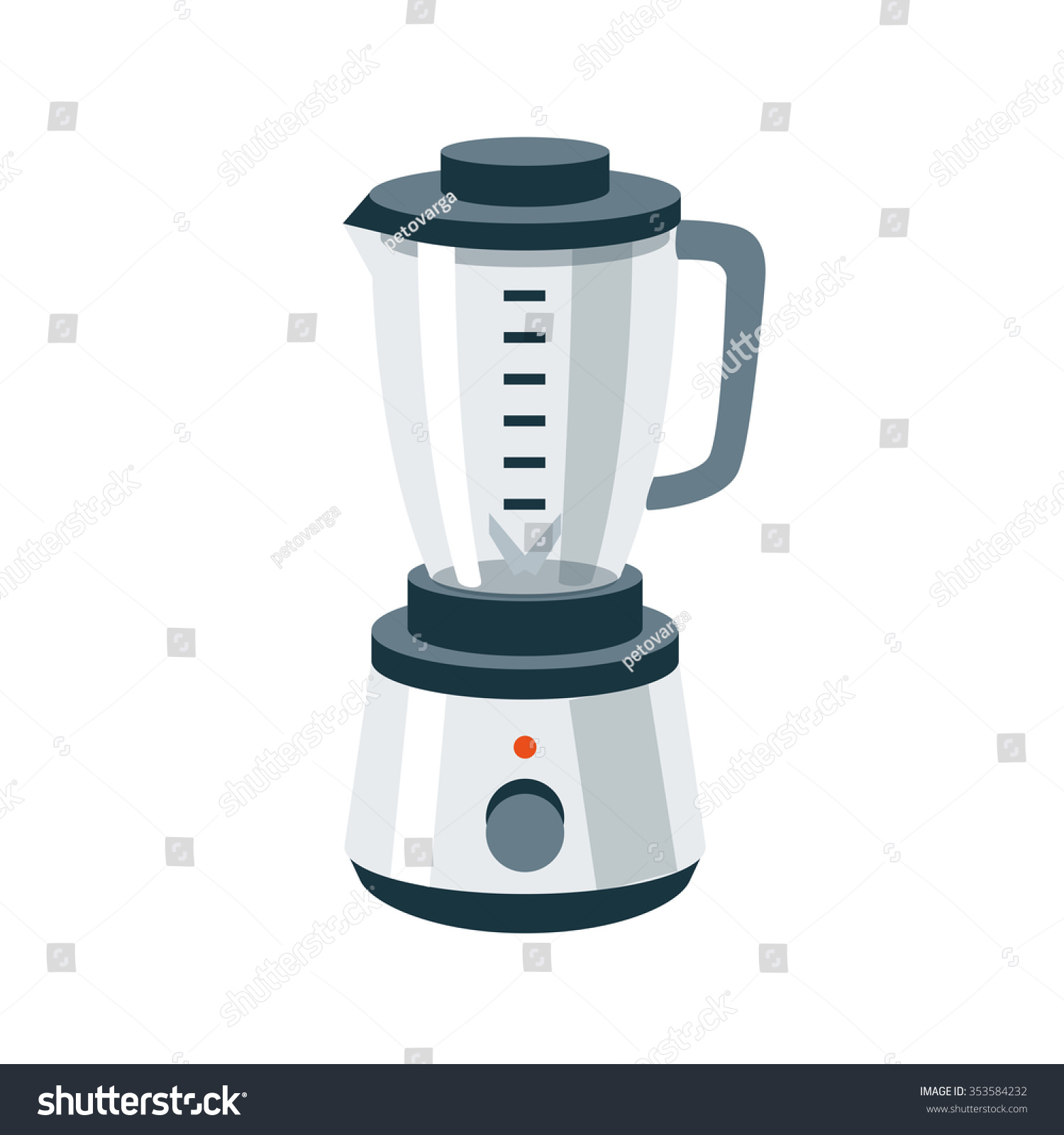 Cartoon Kitchen Mixer ~ Vector illustration of isolated kitchen blender mixer food