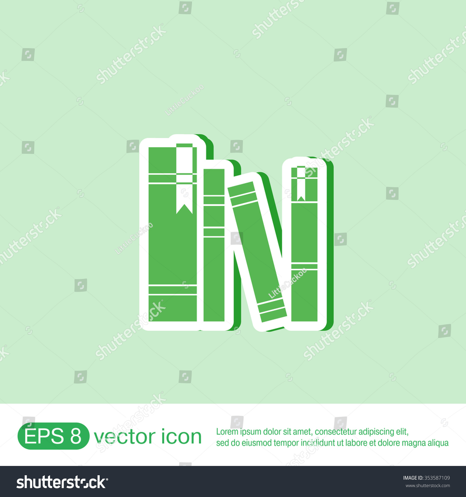 Book Spine Spines Books Icon Symbol Stock Vector 353587109