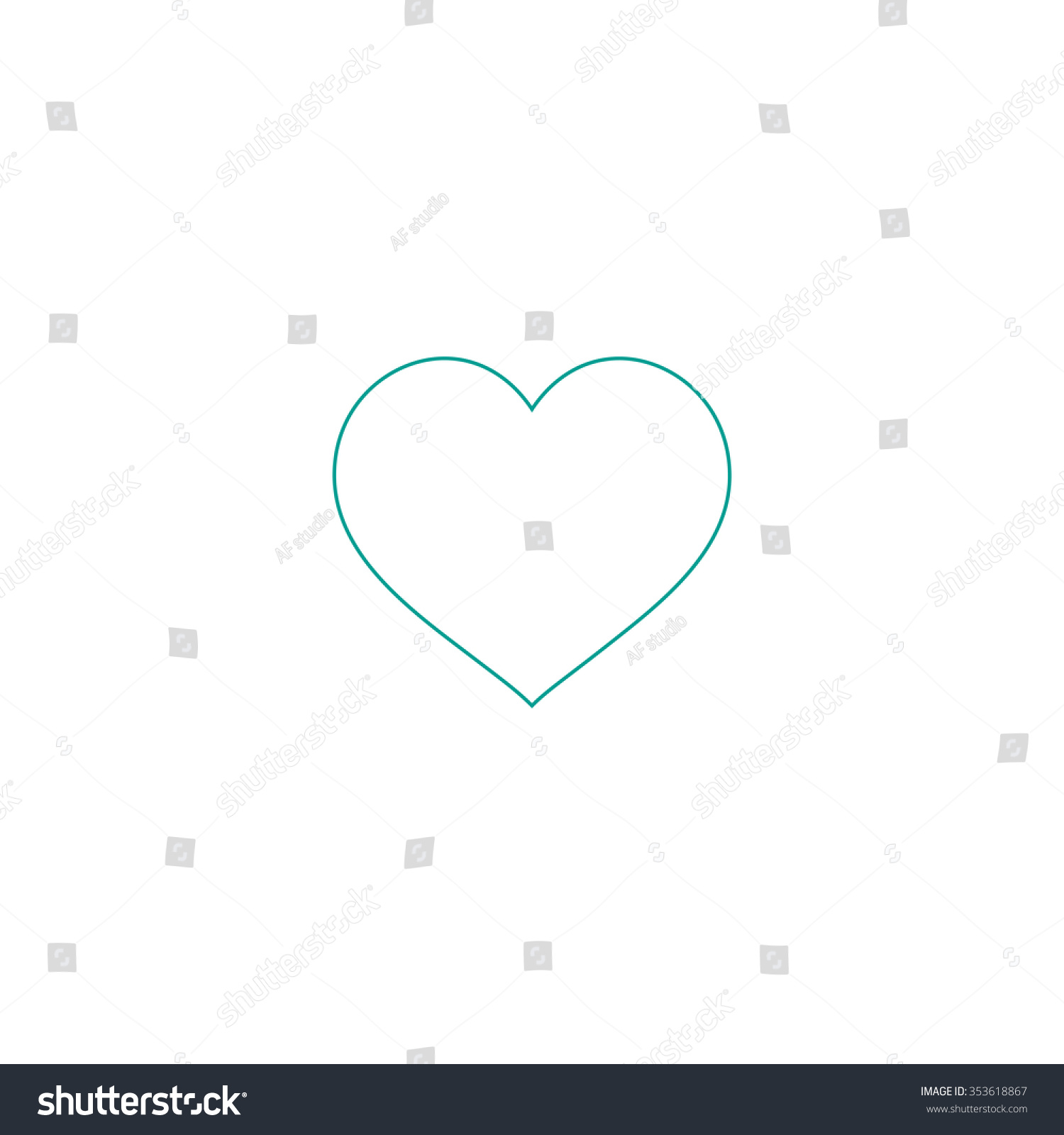 Flat heart outline symbol on white stock illustration 353618867 flat heart outline symbol on white background simple line icon buycottarizona Image collections