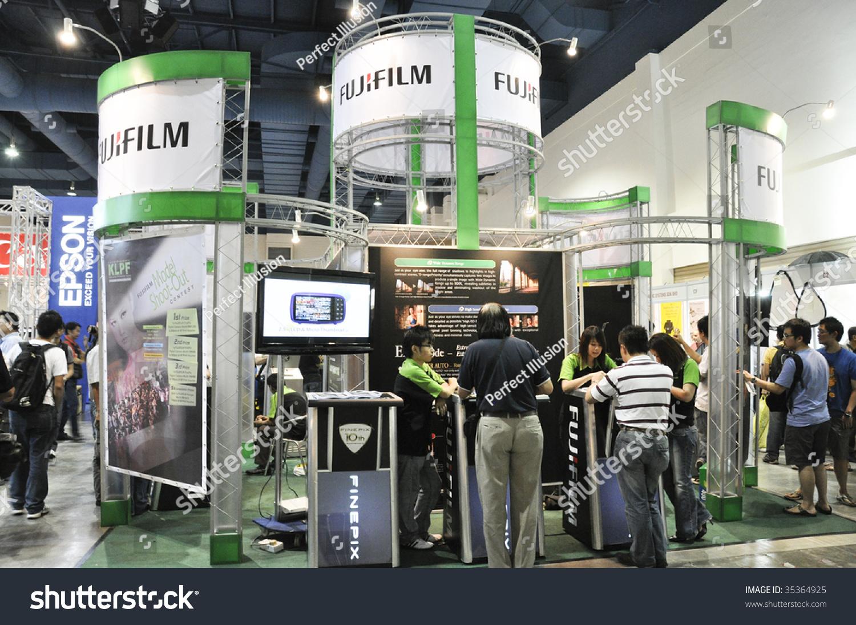 Exhibition Booth Rental Kuala Lumpur : Kuala lumpur malaysia august fujifilm booth at