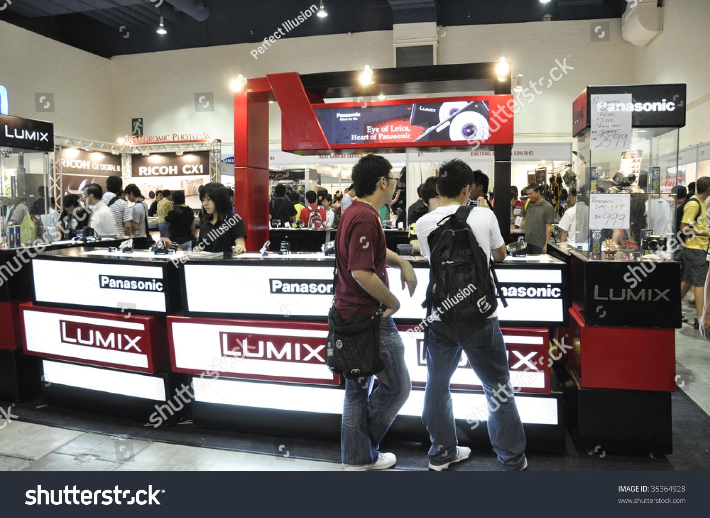 Exhibition Booth Rental Kuala Lumpur : Kuala lumpur malaysia august panasonic lumix booth