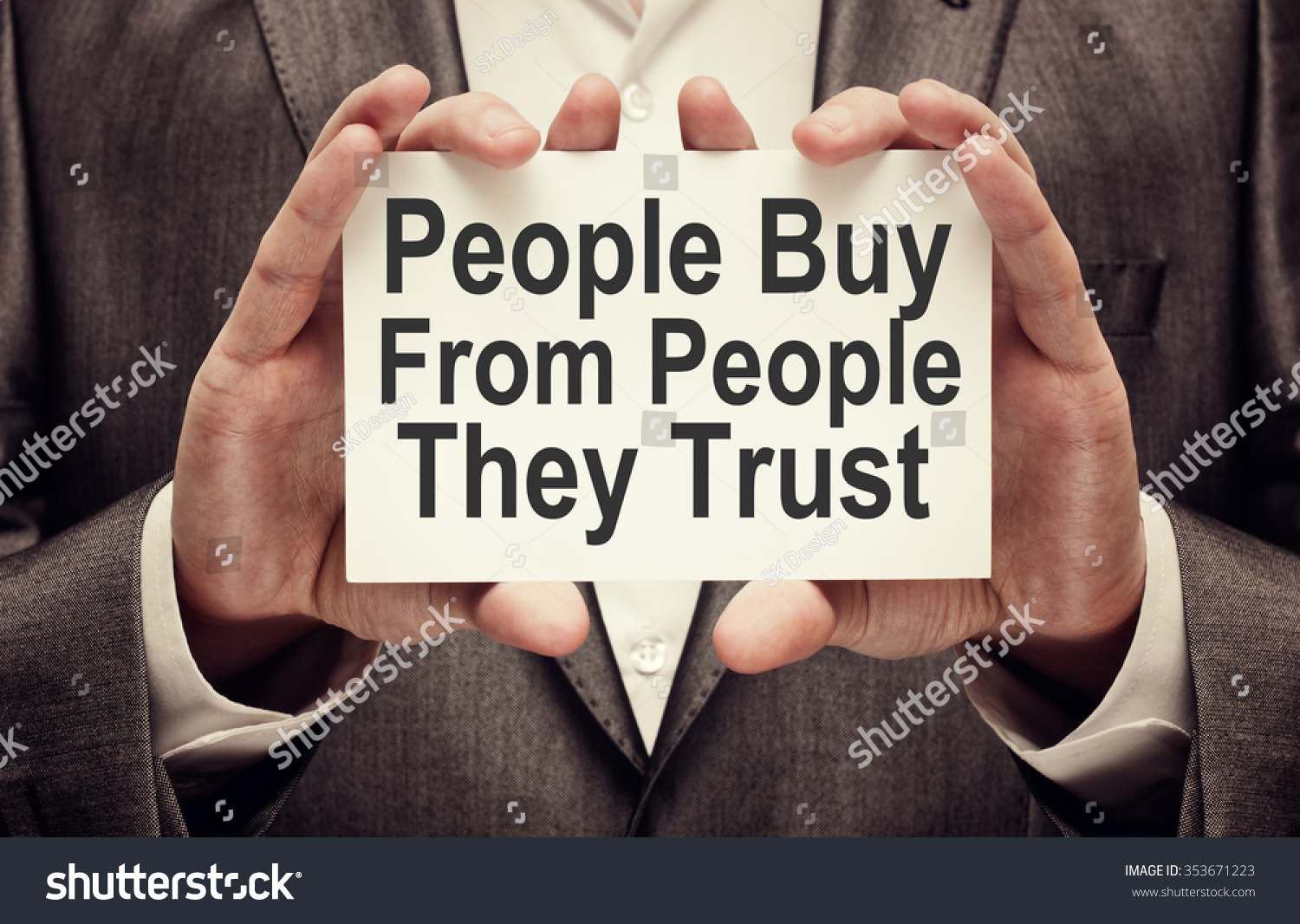 People Buy People They Trust Businessman Stock Photo (Edit