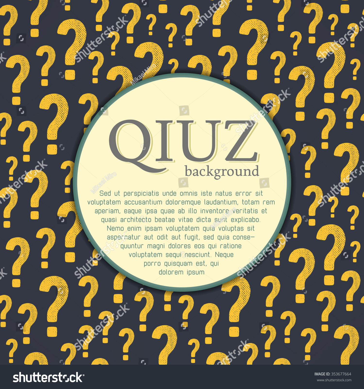 Poster design for quiz - Vector Quiz Background Question And Answer Concept Quiz Page Design Quiz Background