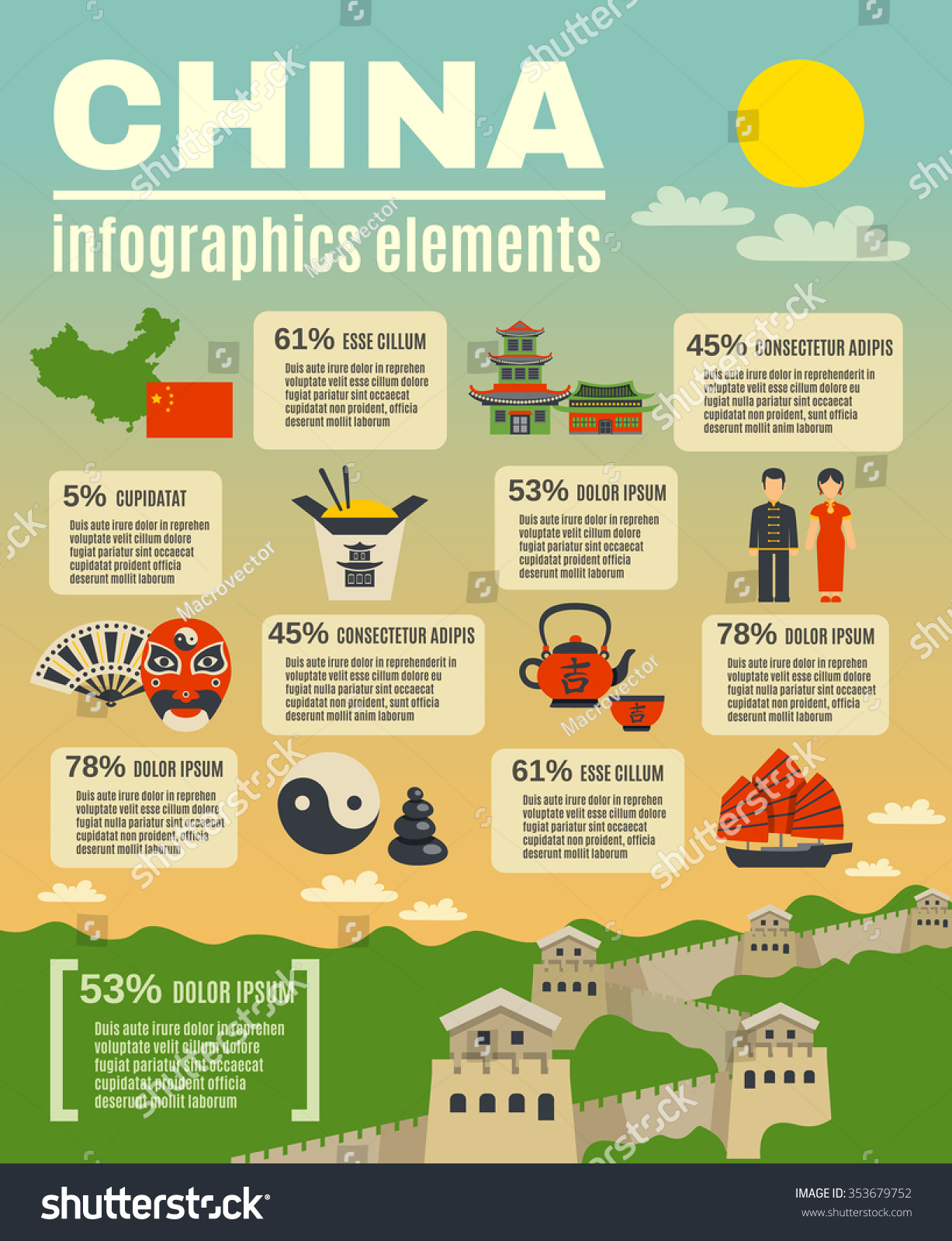 Infographic Presentation Elements Composition Poster On Stock ...