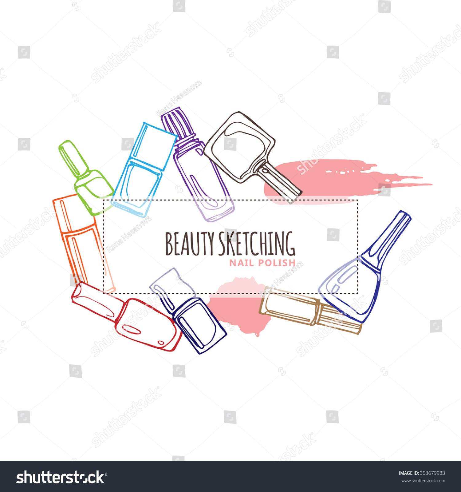 Nail polish nail lacquer fingernail polish stock vector 353679983 nail polish nail lacquer fingernail polish nail enamel set make up pooptronica Gallery