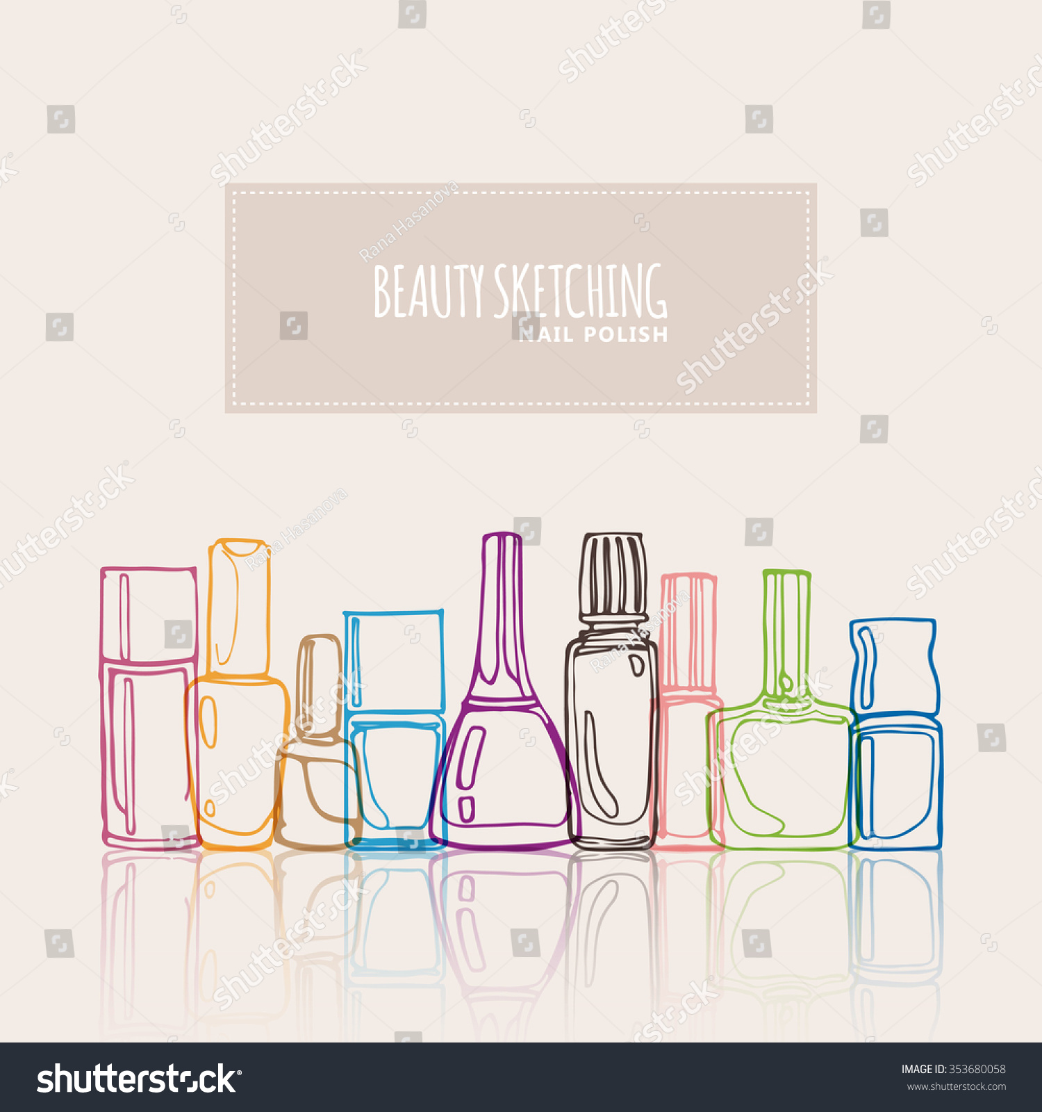 Nail polish nail lacquer fingernail polish stock vector 353680058 nail polish nail lacquer fingernail polish nail enamel set make up pooptronica Gallery